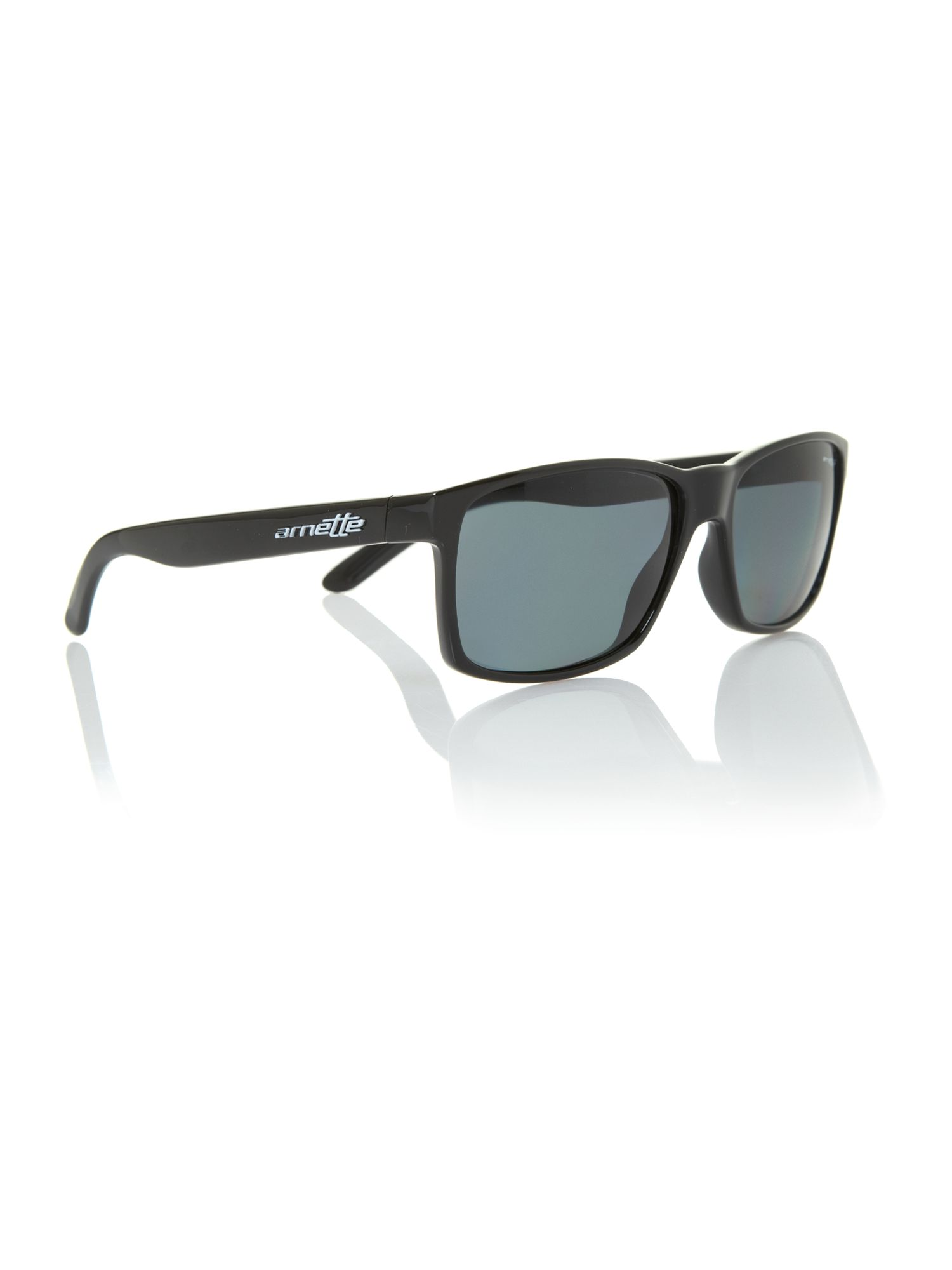 Arnette Men`s AN4185 black rectangular sunglasses