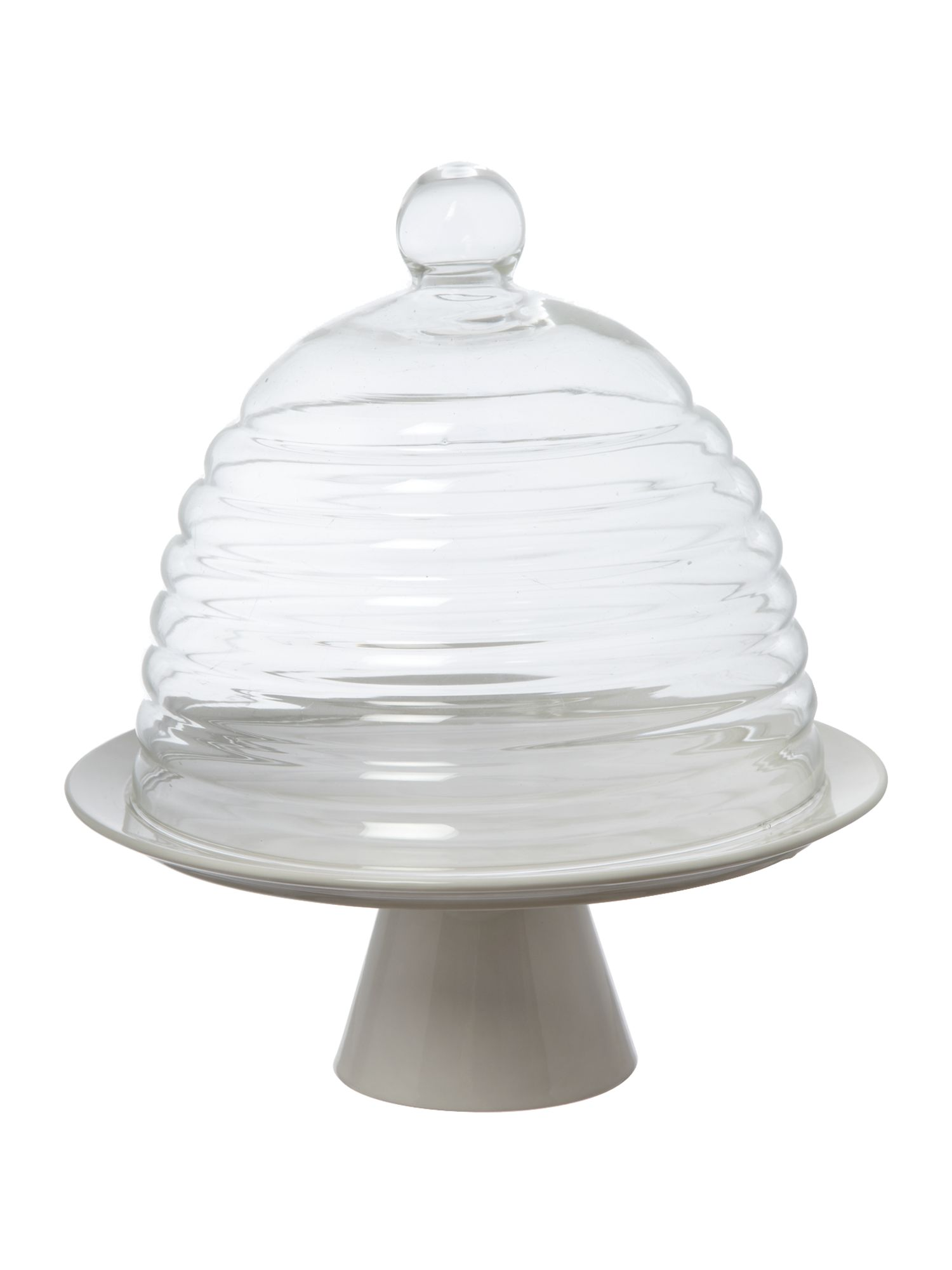 Kitchen Craft Traditional 25cm glass dome cake stand