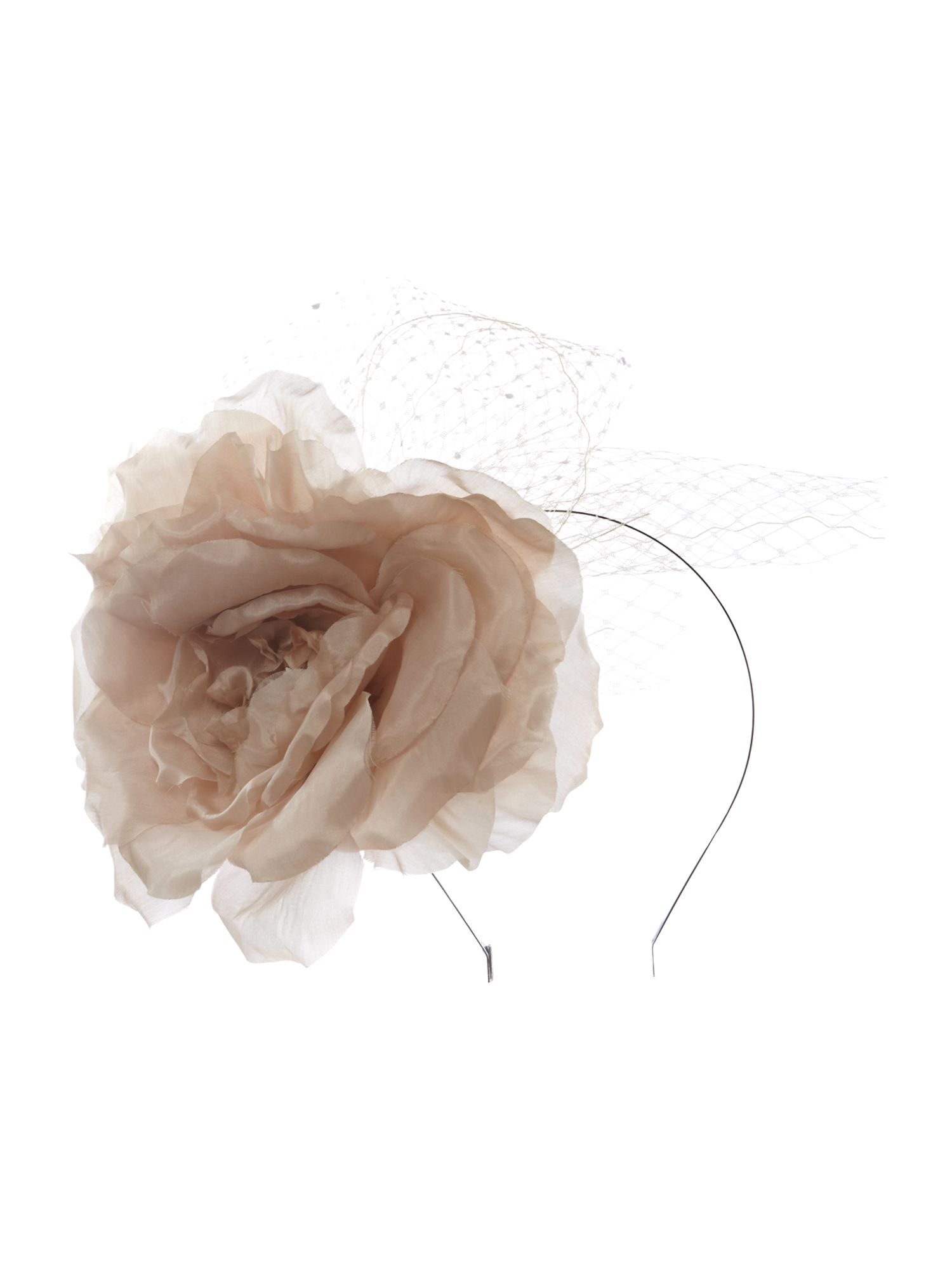 Bloom flower headband with veiling