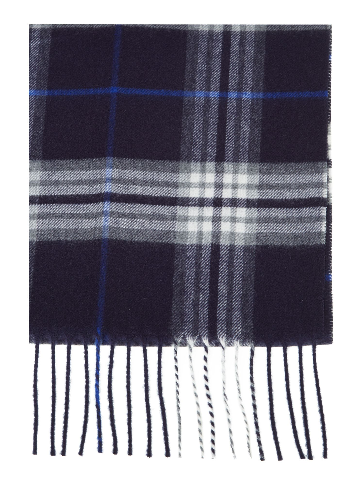 Soft touch tartan check scarf
