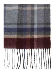 Soft touch burgundy check scarf