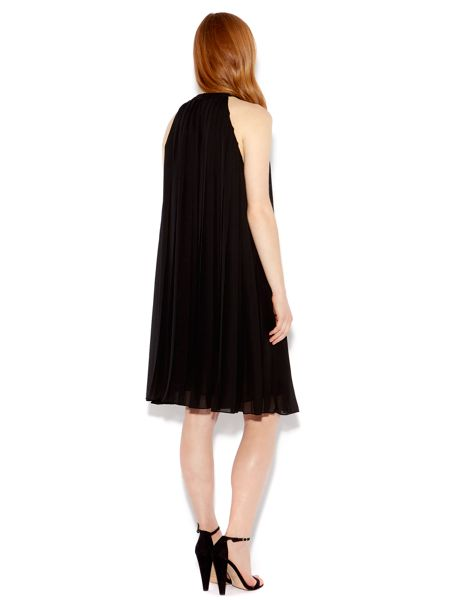 Biba Halter pleat knee length dress