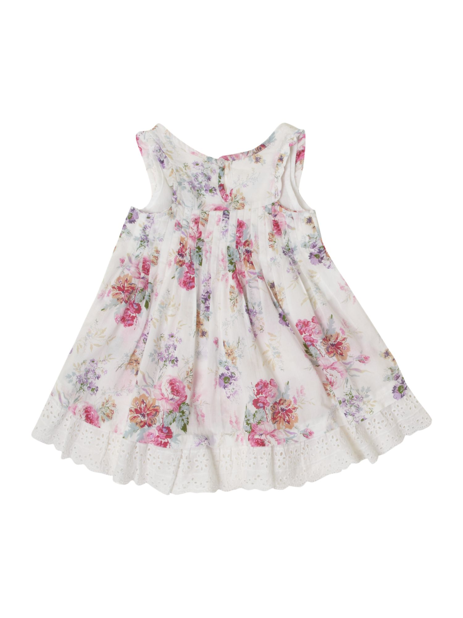 Girl`s floral swing dress