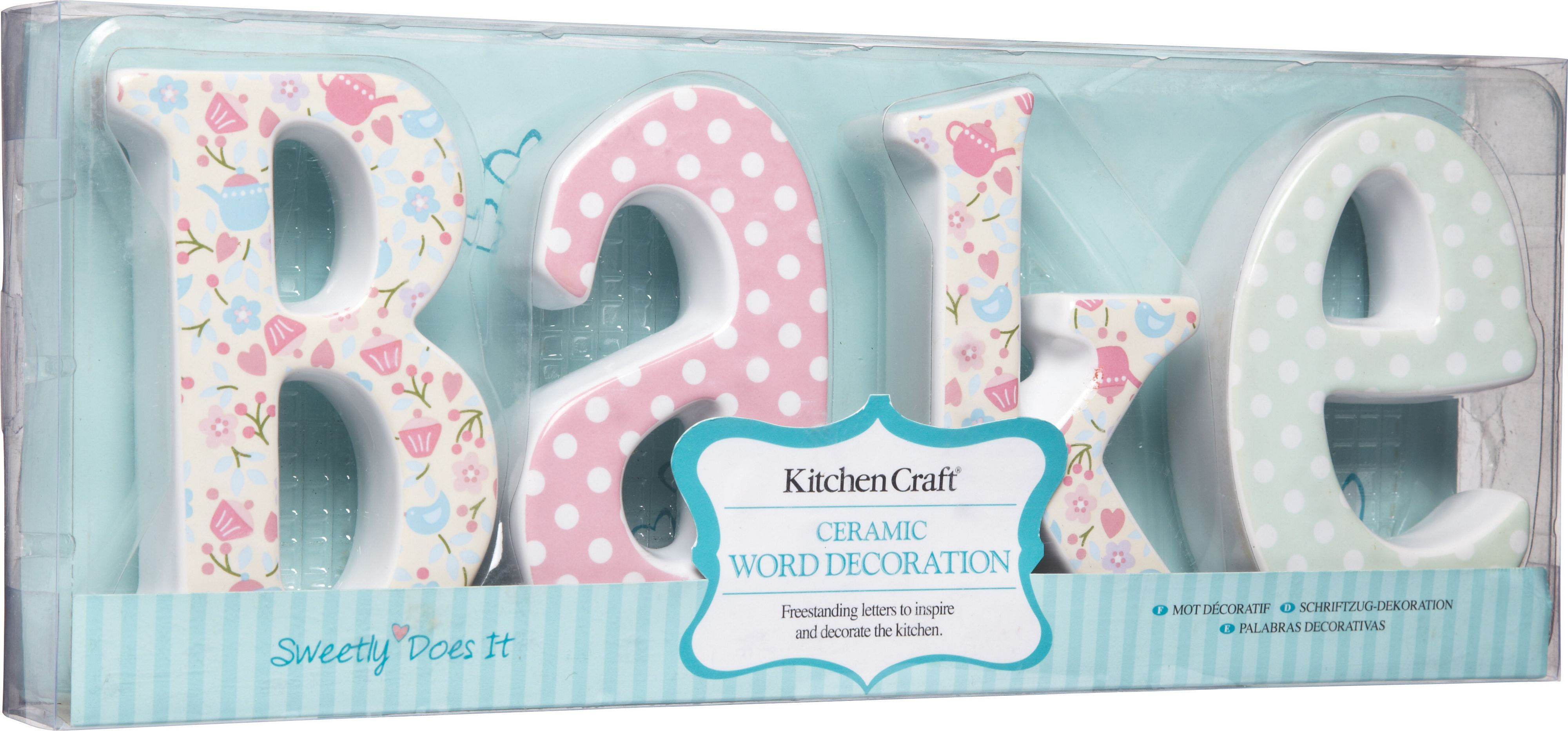 `Bake` ceramic word decor