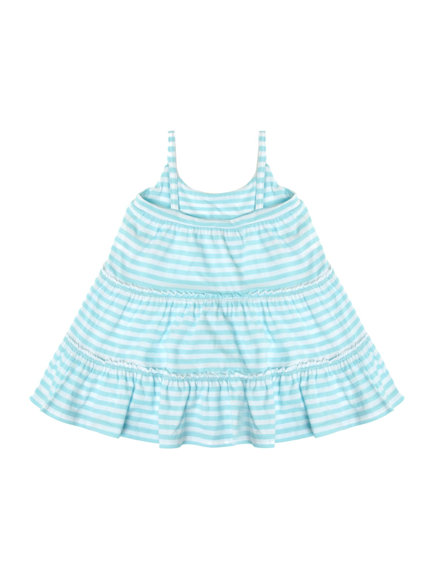 Girl`s jersey stripe dress