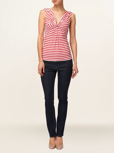 Phase Eight Aisling stripe jersey twist top