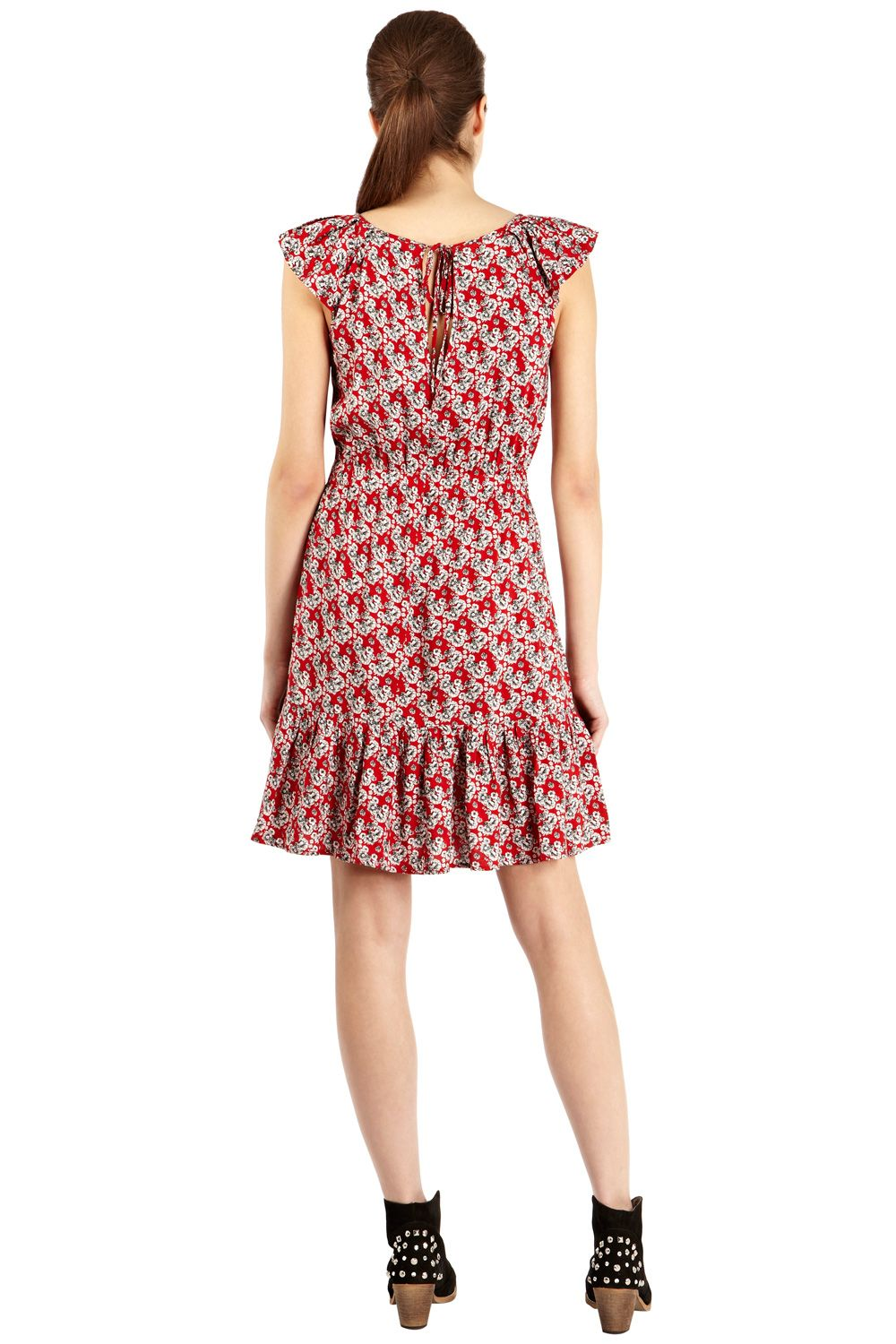 Ditsy print tea dress