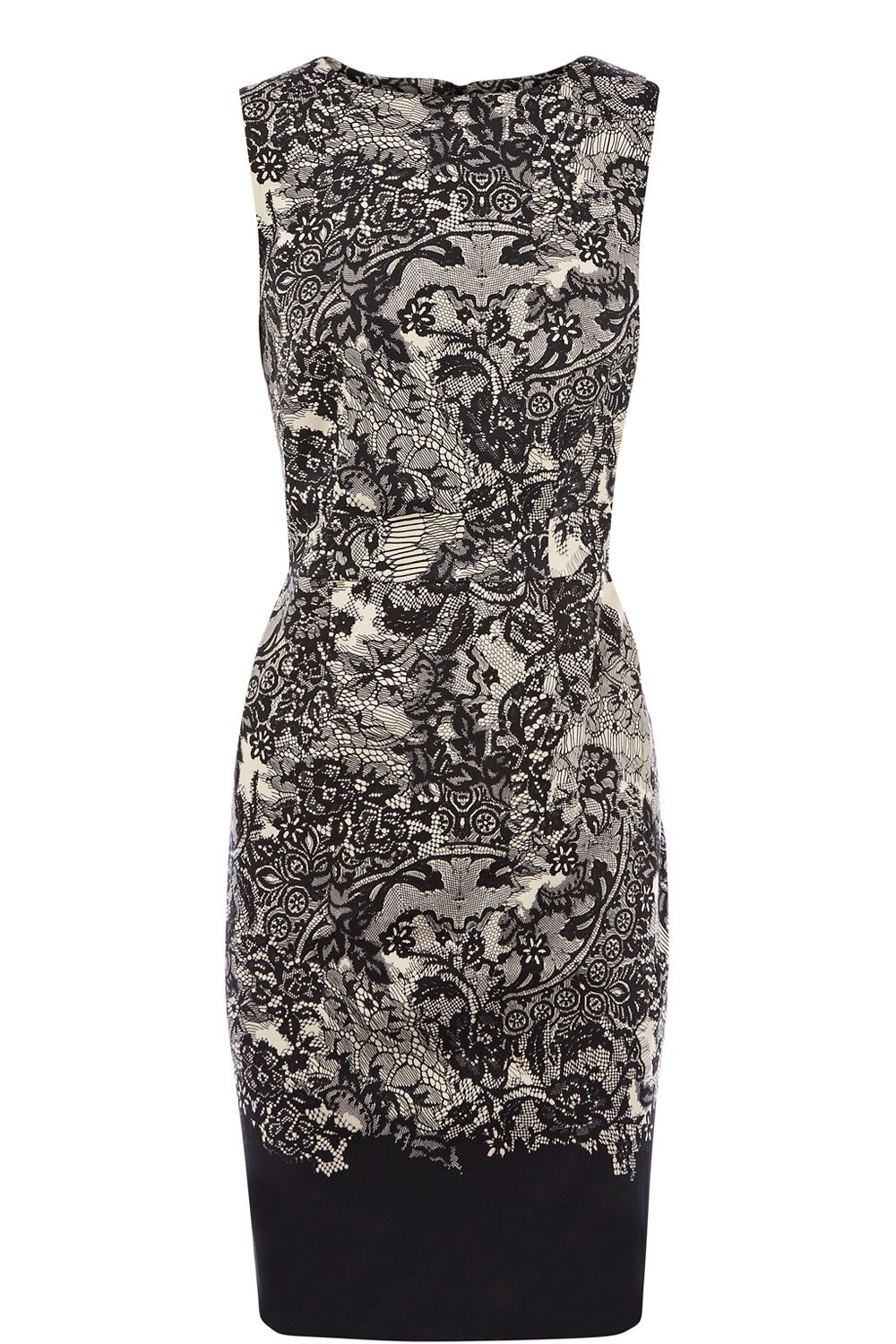 All over lace print dress