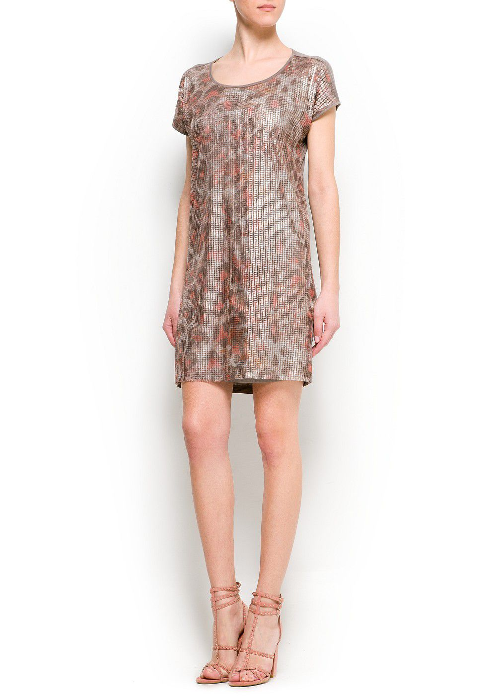 Animal print sequins dress