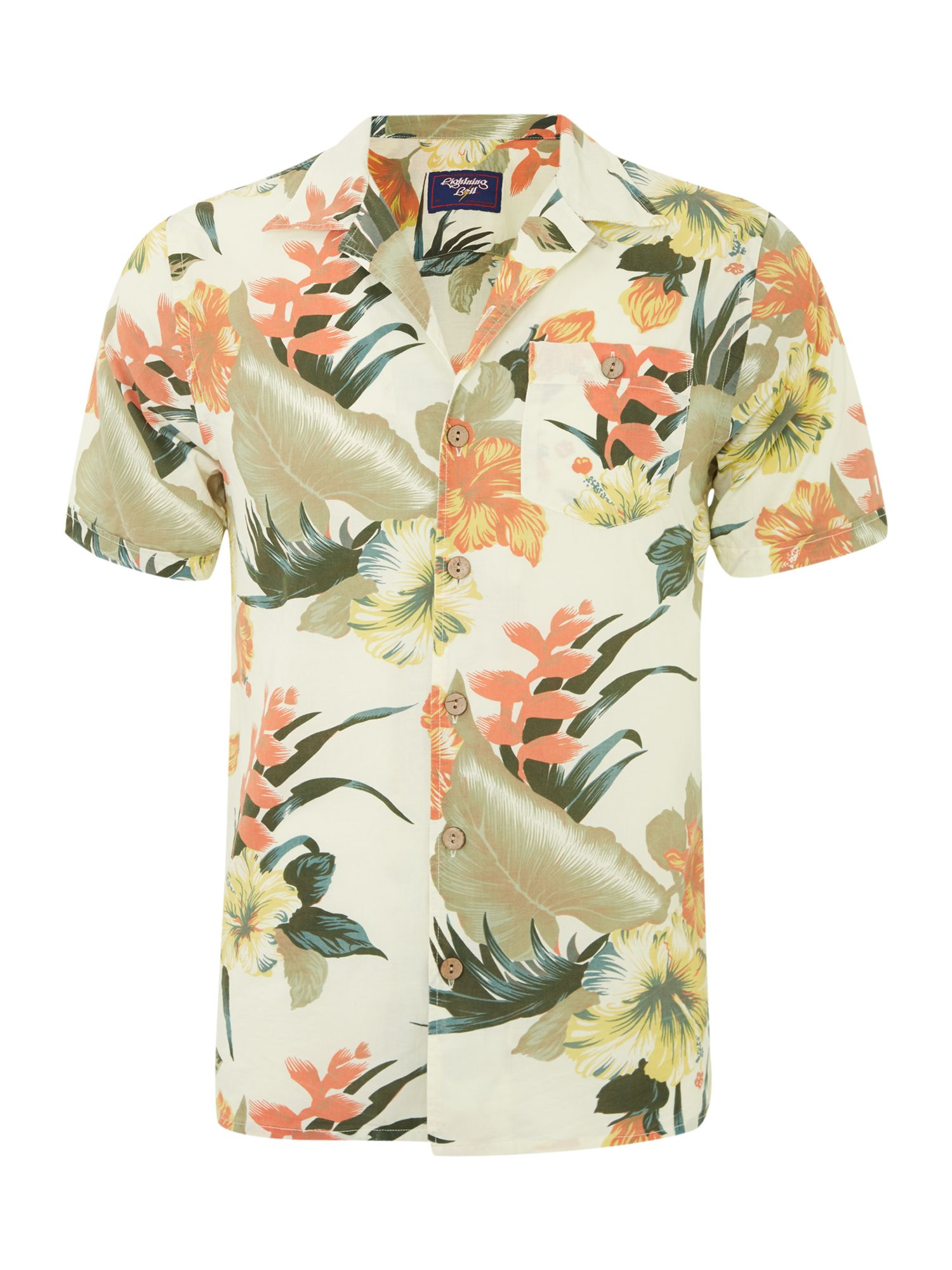 Short sleeved floral print shirt