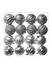 Woodland charm shatterproof silver pack x 16