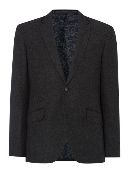 Linea Times Wool Blazer With Velvet Trims