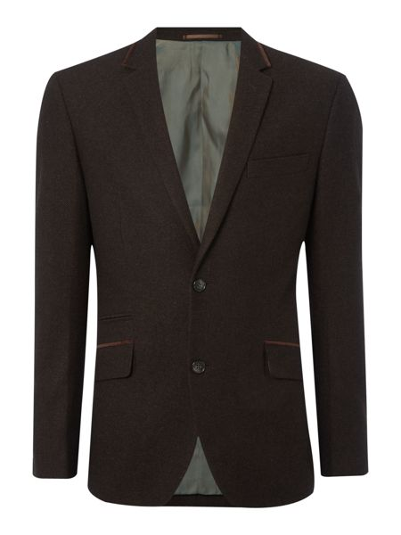 Times Wool Blazer With Velvet Trims