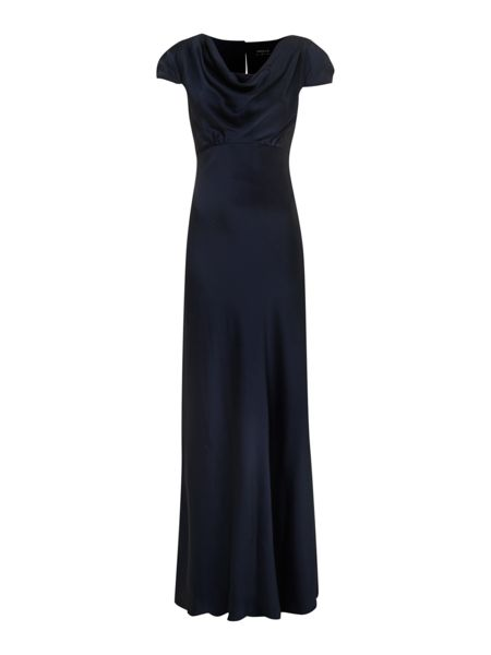 Ariella Satin cowl neck maxi dress