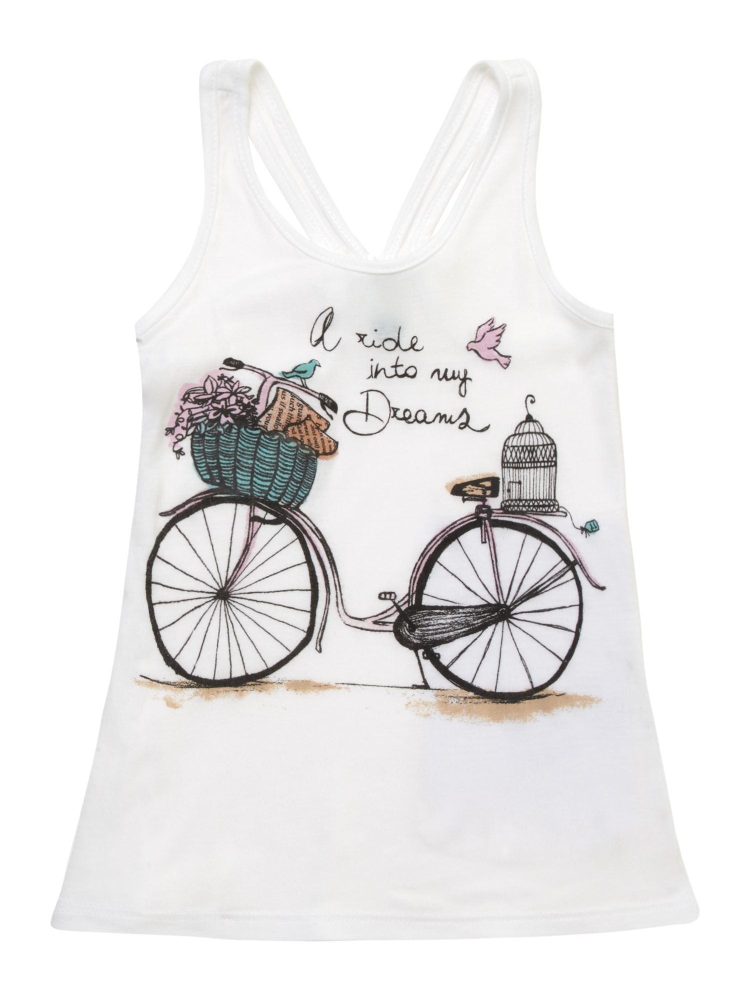 Girl`s bicycle print vest