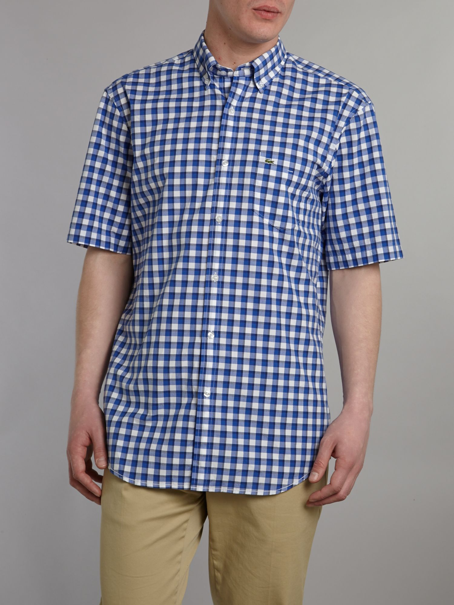 Short sleeved check shirt