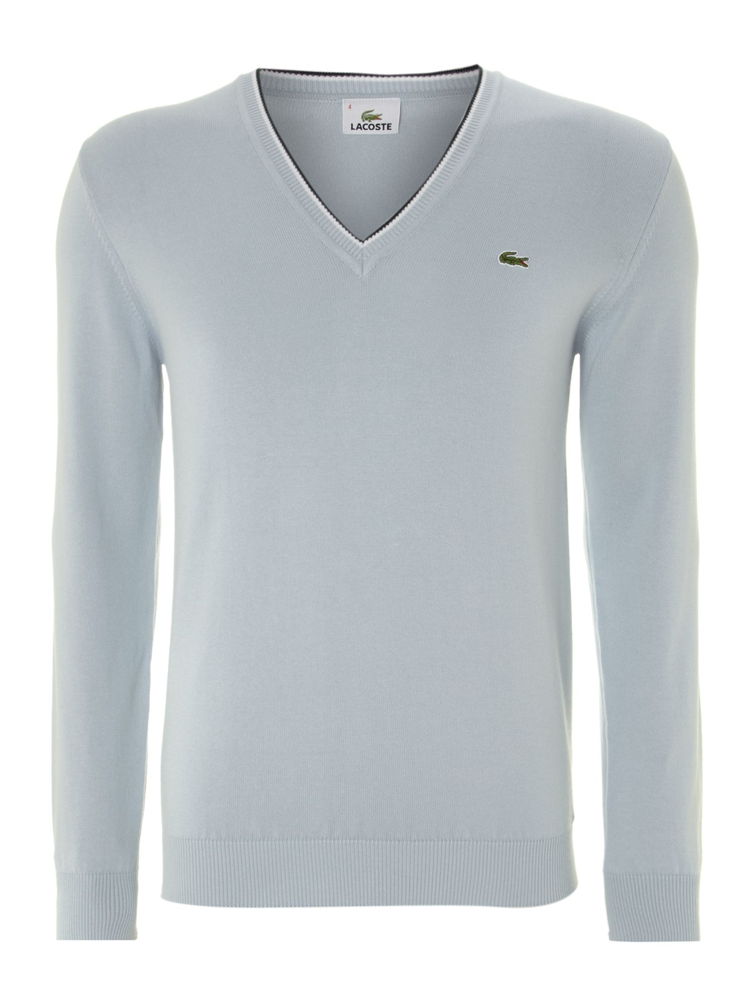 Tipped v neck jumper