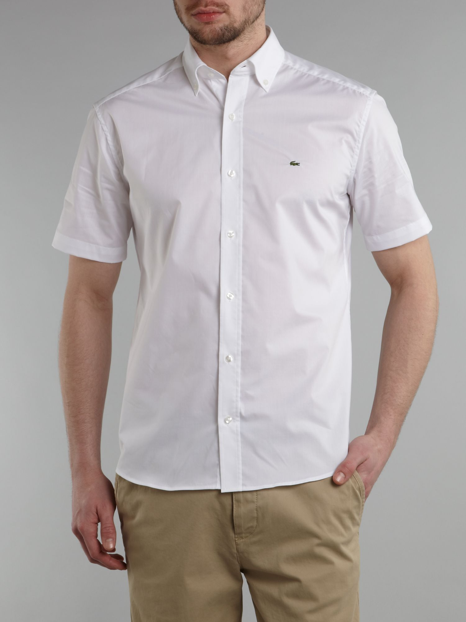Short sleeved poplin shirt