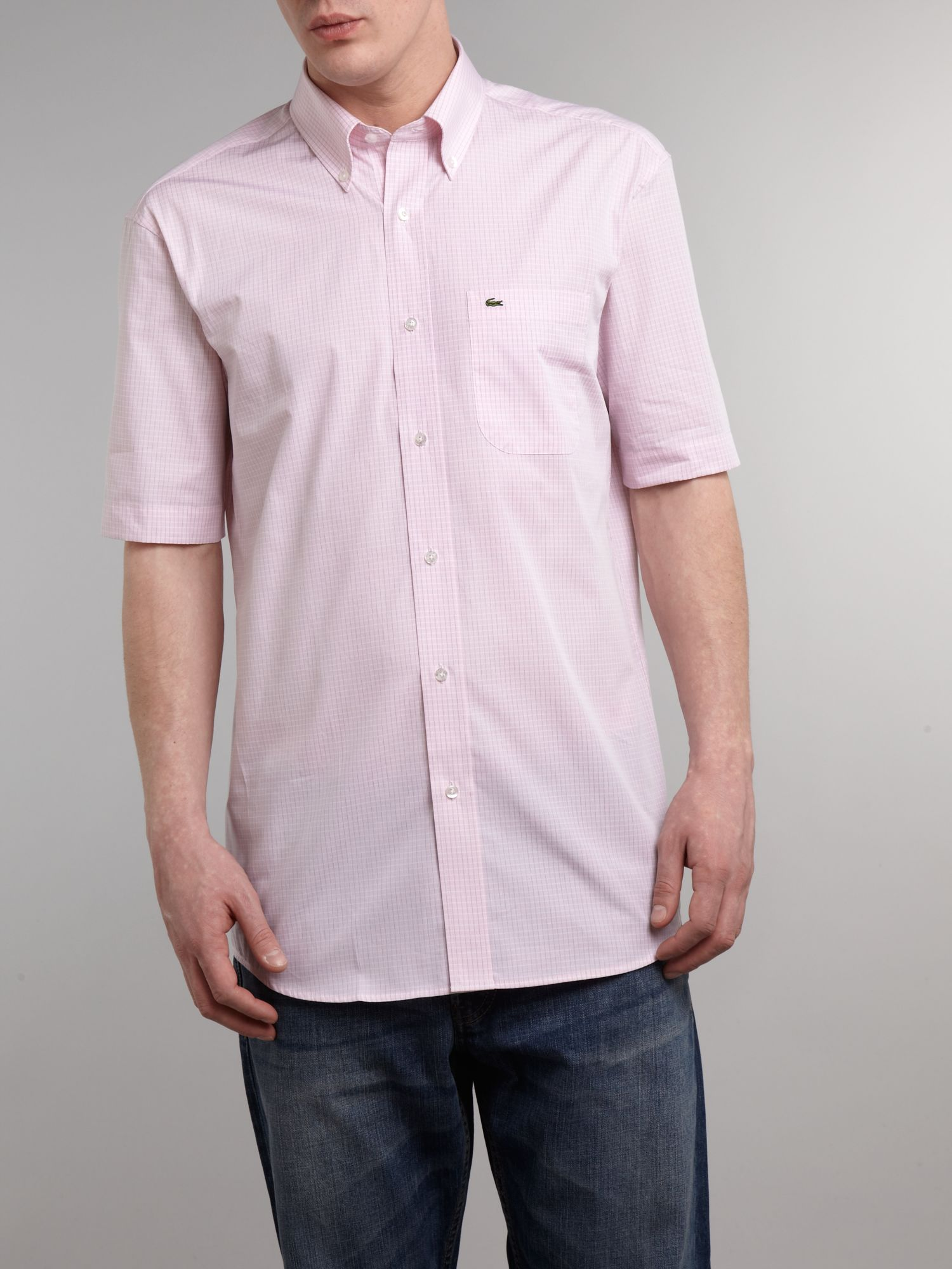 Short sleeved fine city check shirt
