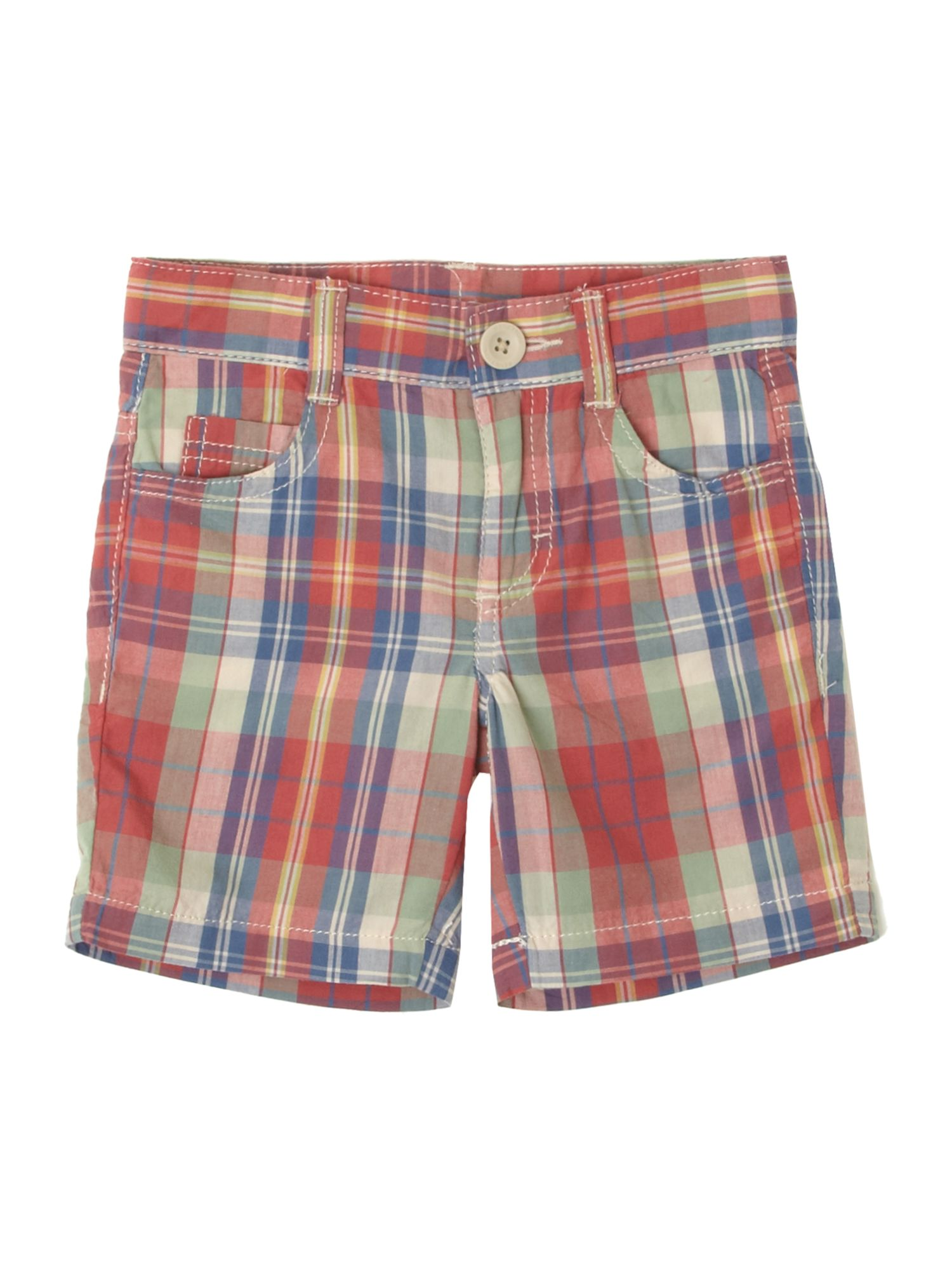 Boys`s smart checked shorts