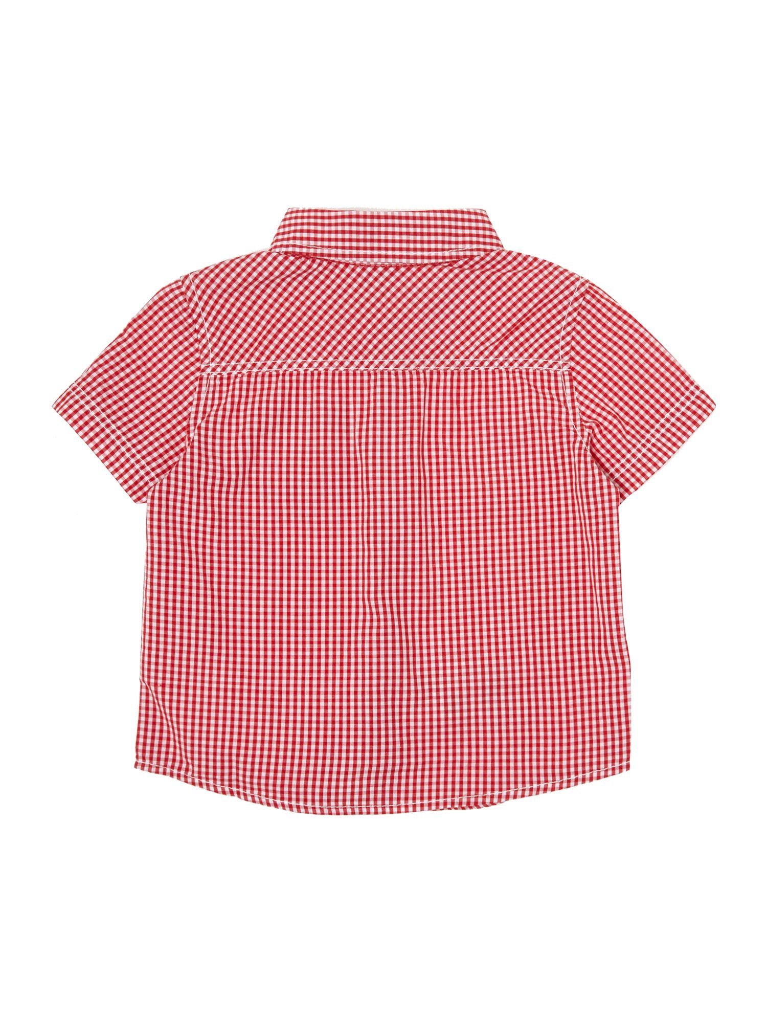Boy`s gingham checked shirt