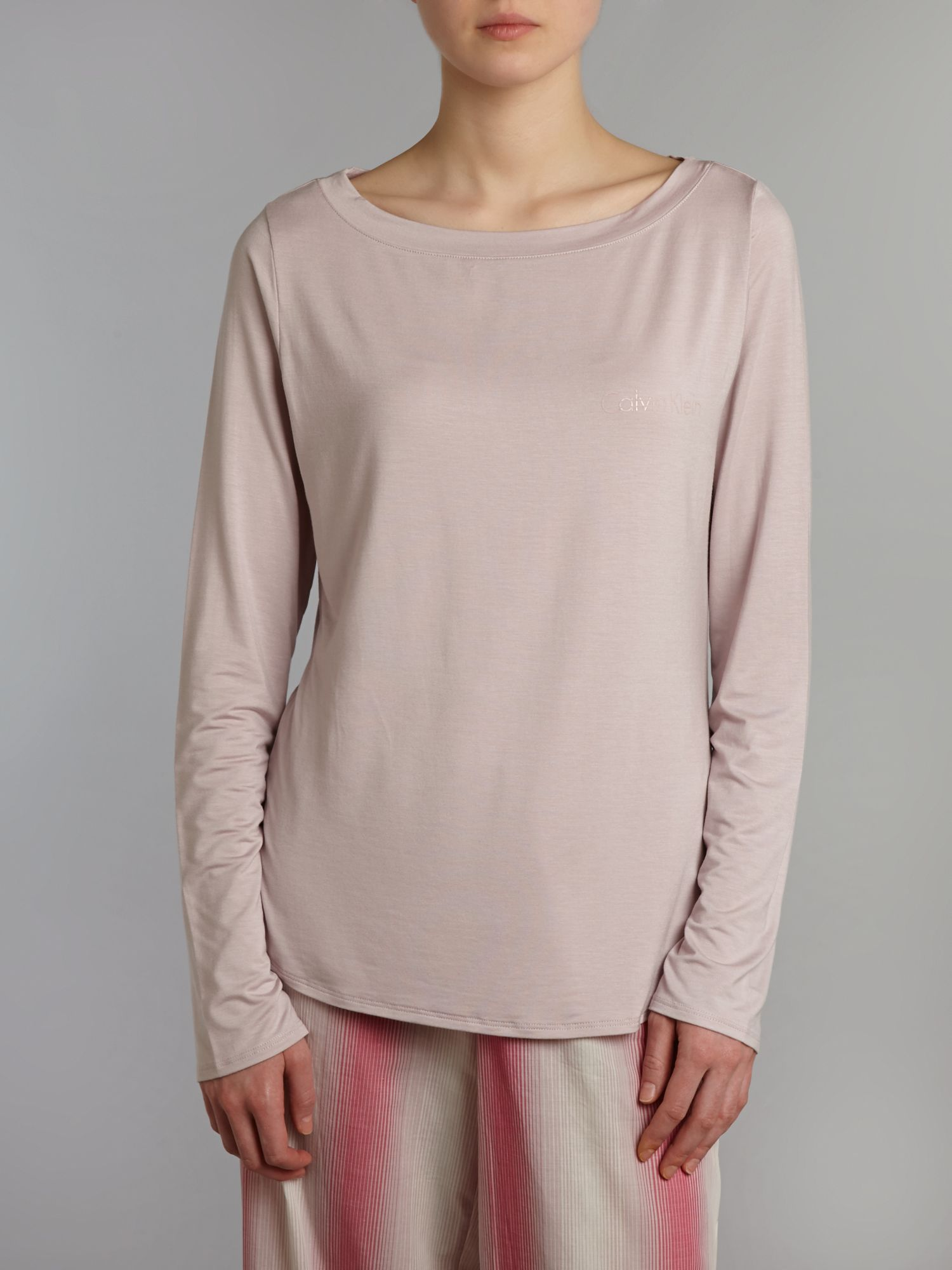 Modal coordinating top long sleeve pyjama top