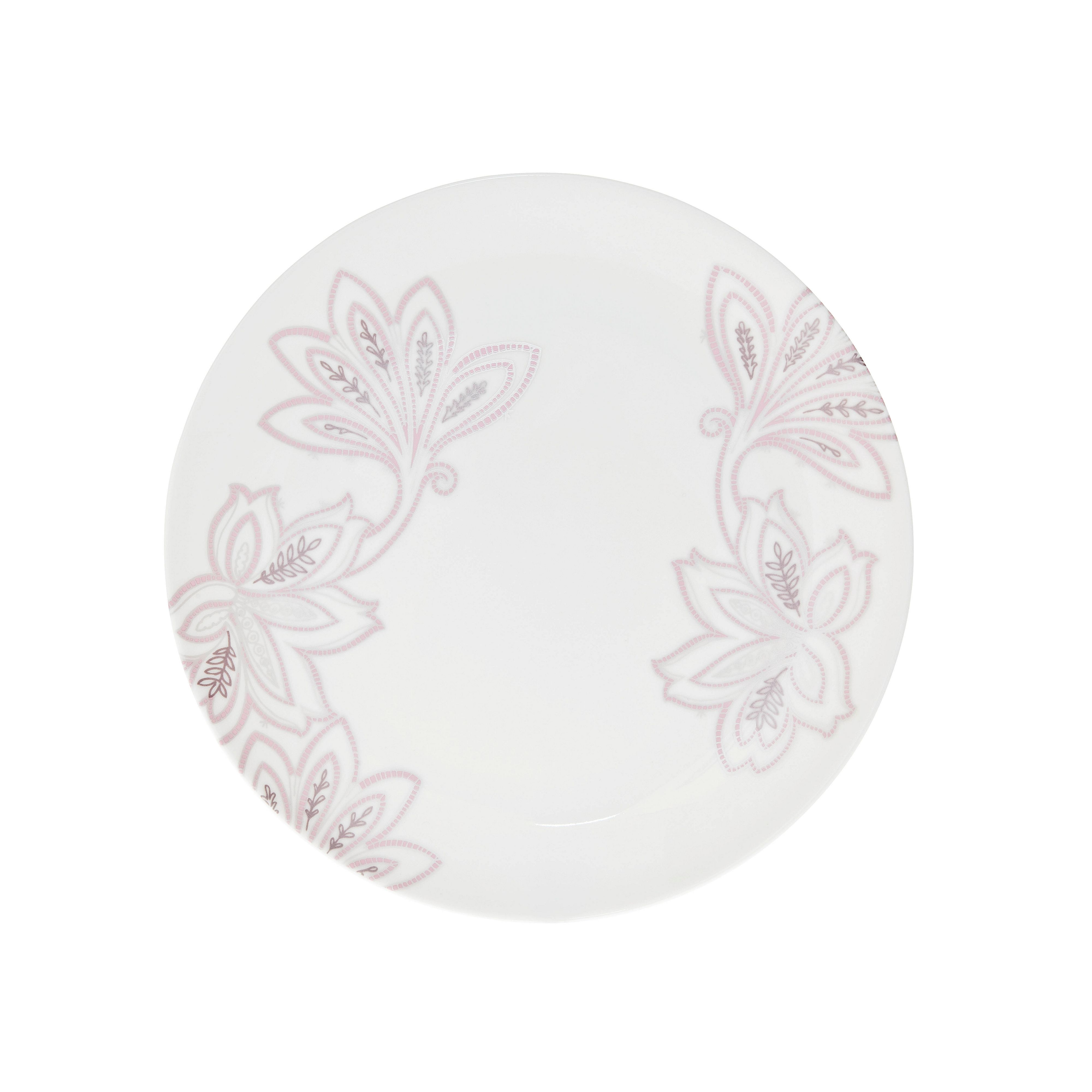 Chantilly salad plate, cream