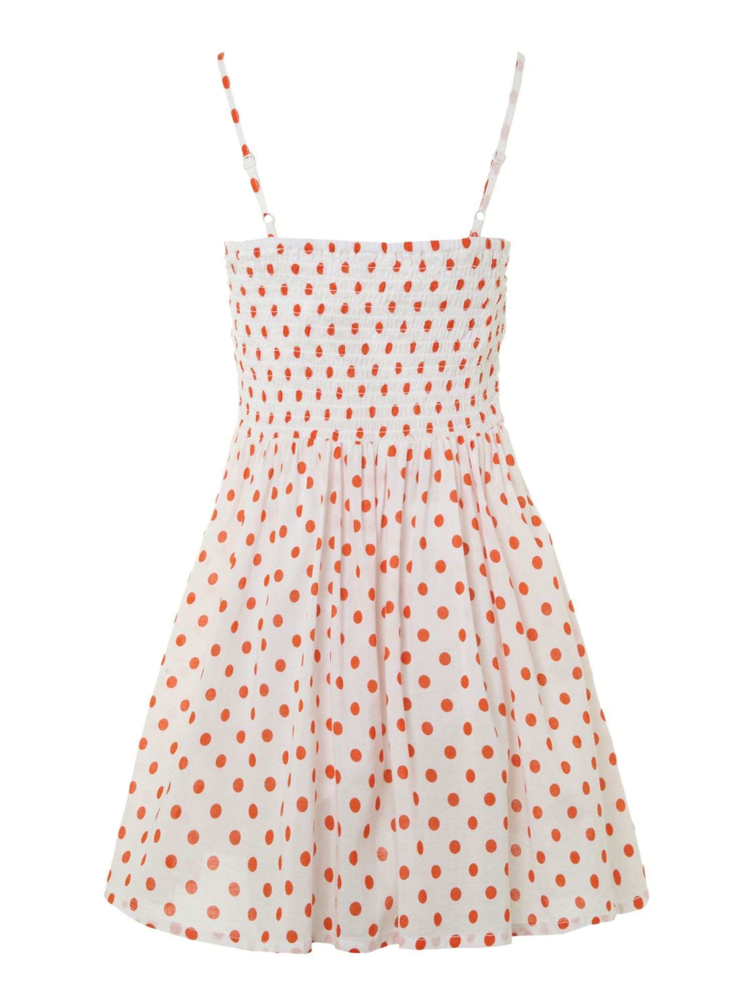 Girl`s spotty stap summer dress