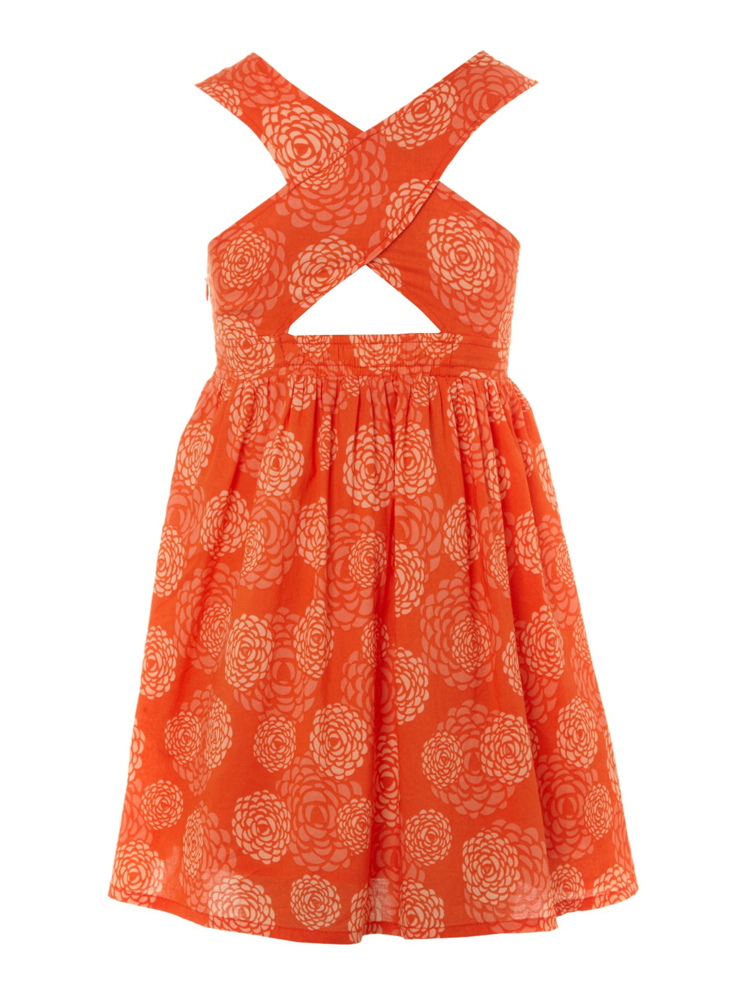 Girl`s printed summer dress