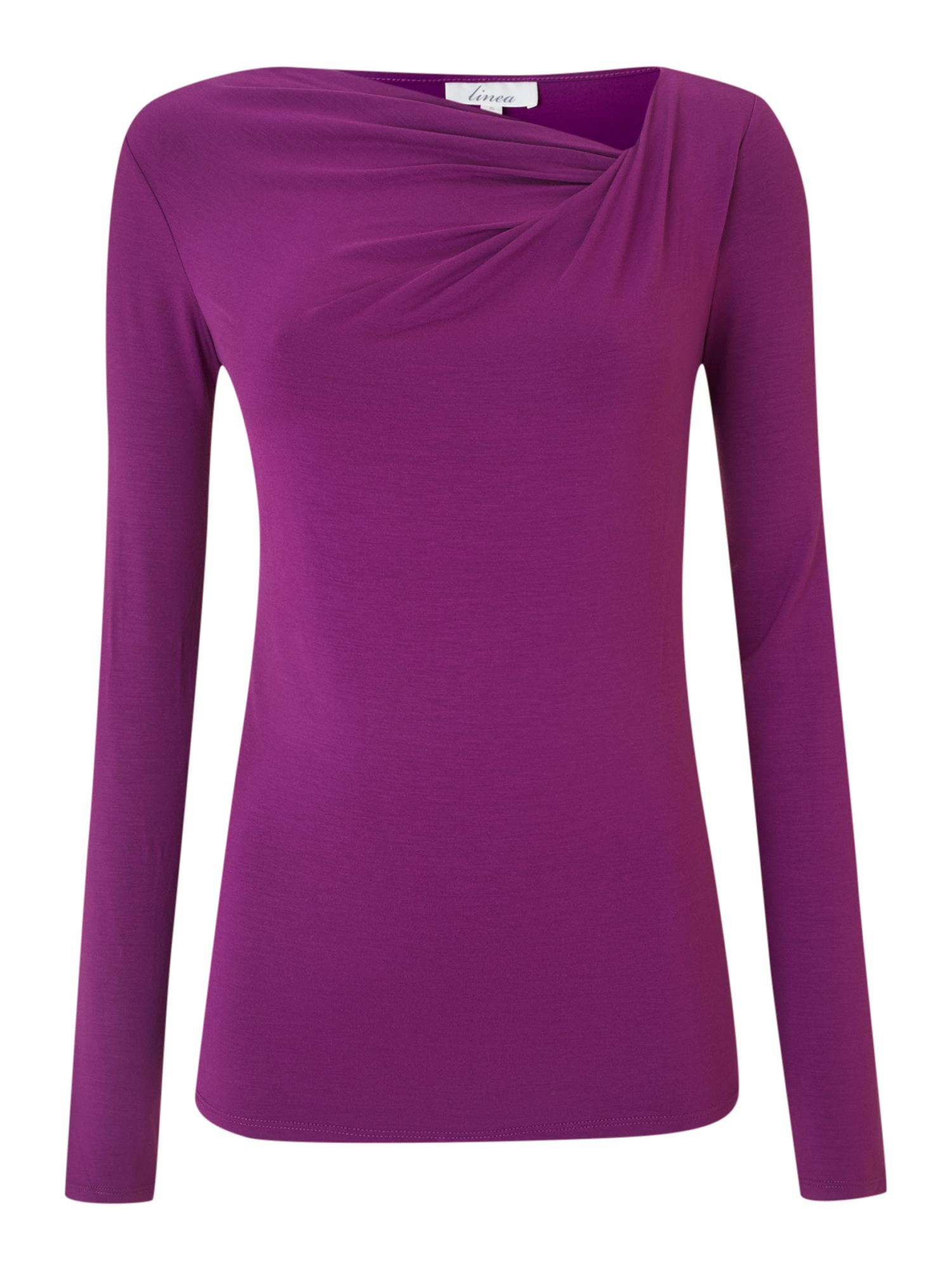 Essential long sleeve twist cowl jersey top