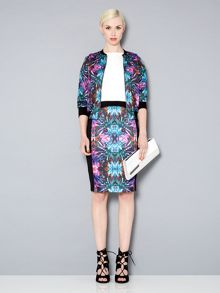 Kaleidoscope printed panelled skirt
