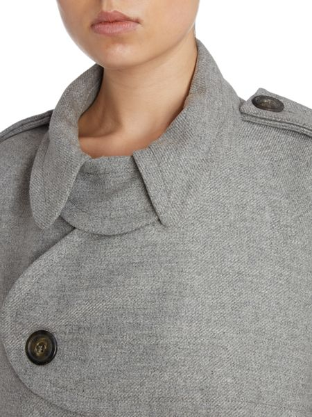 Anglomania Long slleved button front funnel neck coat