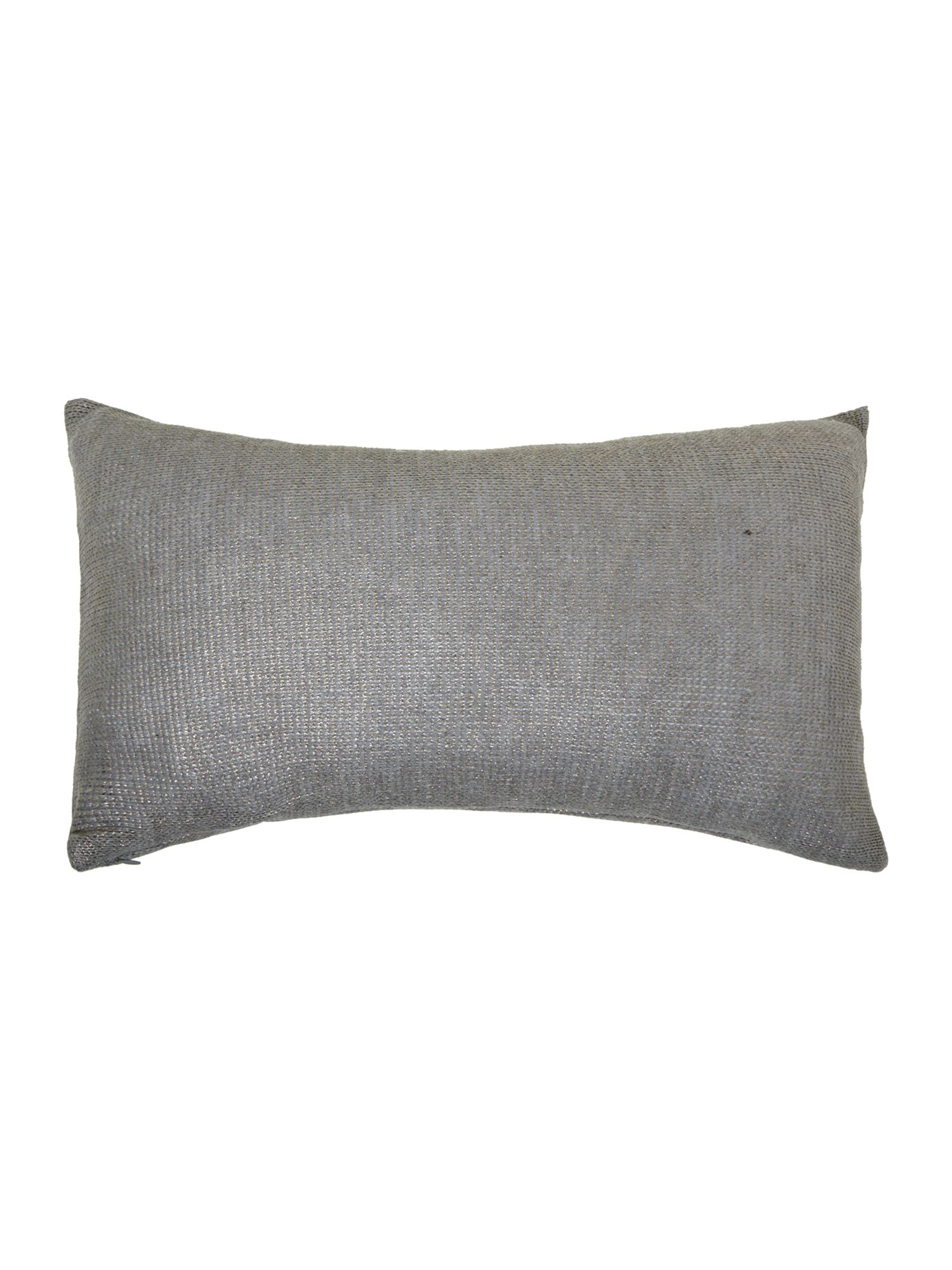 Gold foil knitted cushion