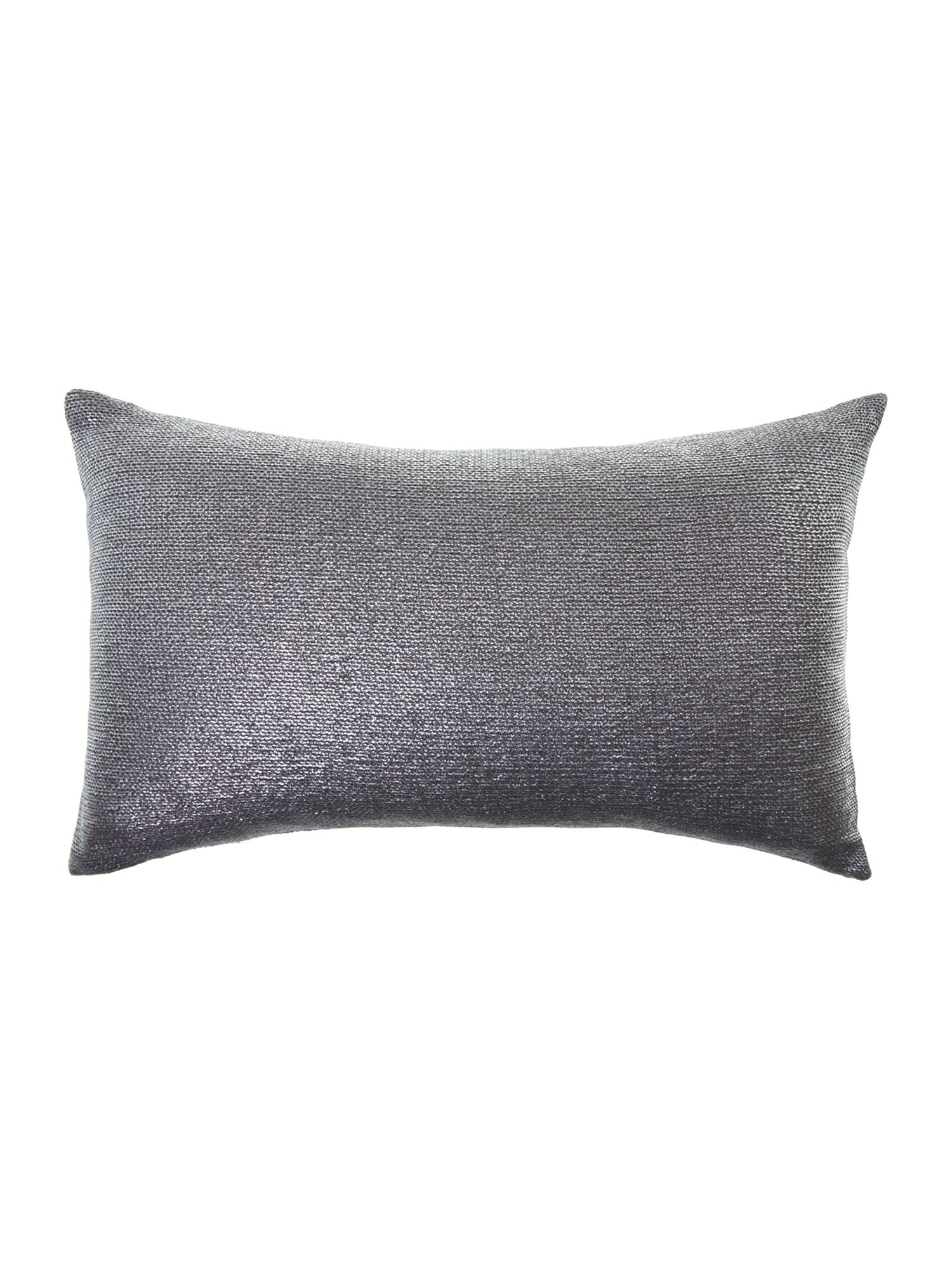 Silver foil knitted cushion
