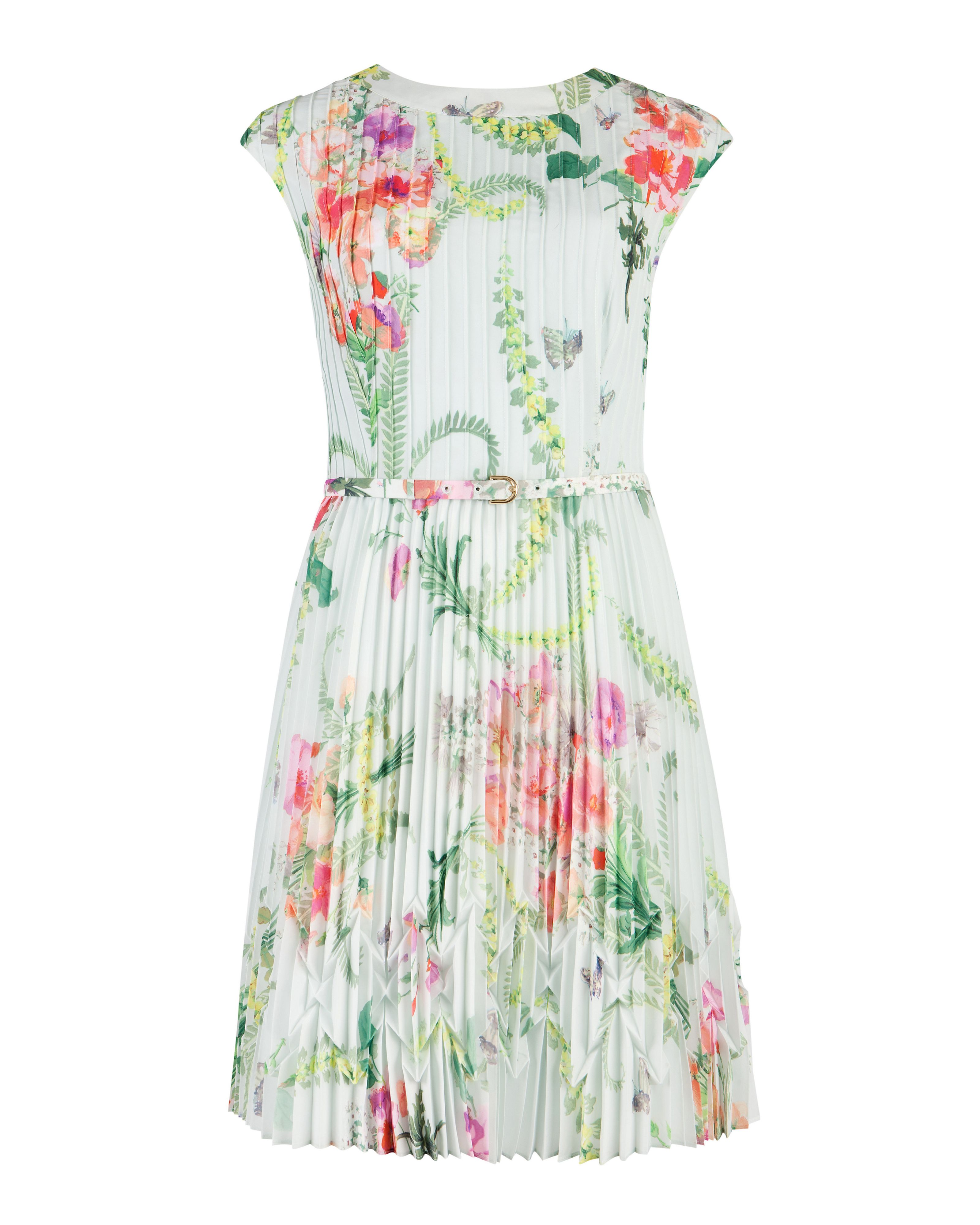 Perlaa wallpaper floral pleated dress