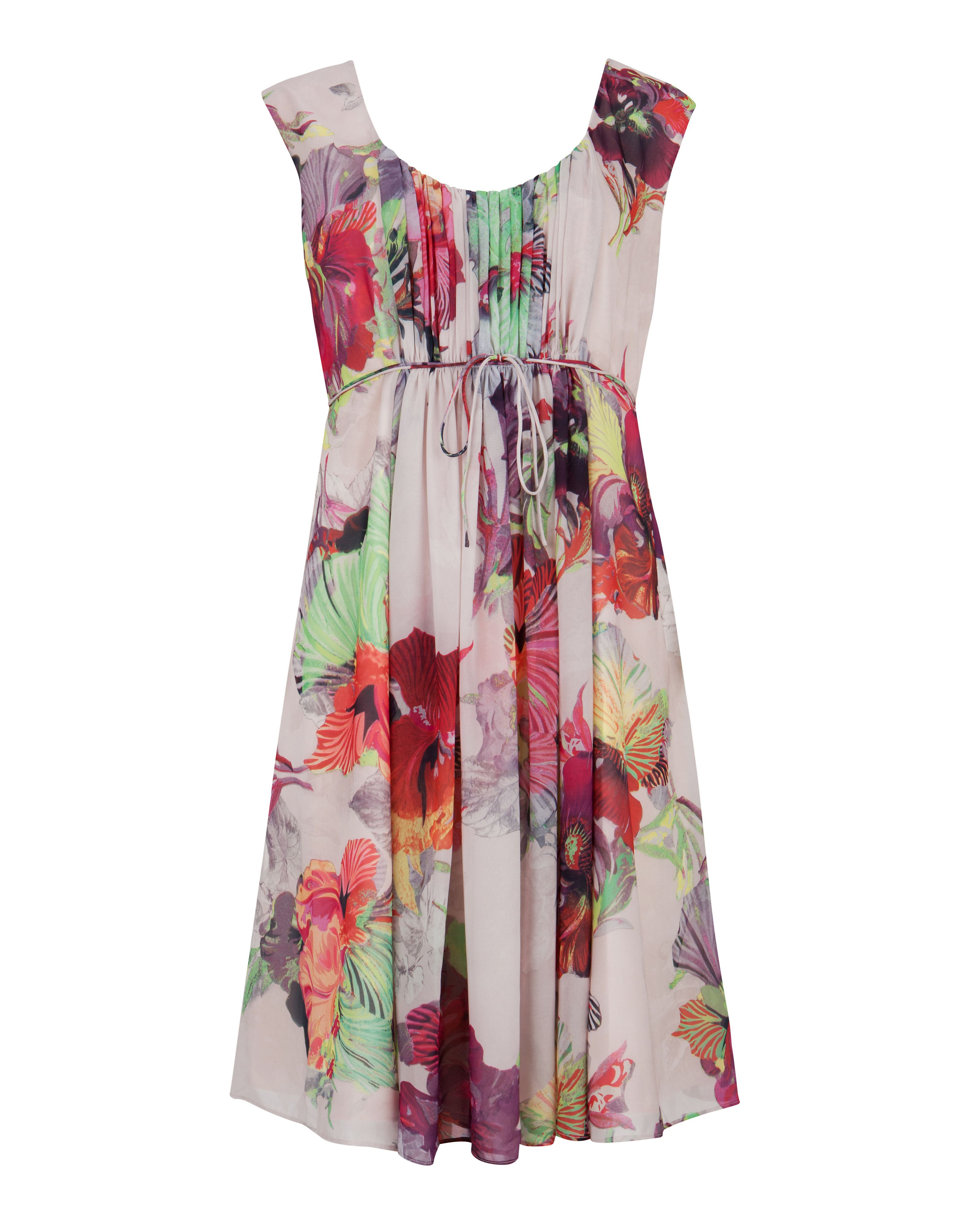 Amaran treasured orchid print dress