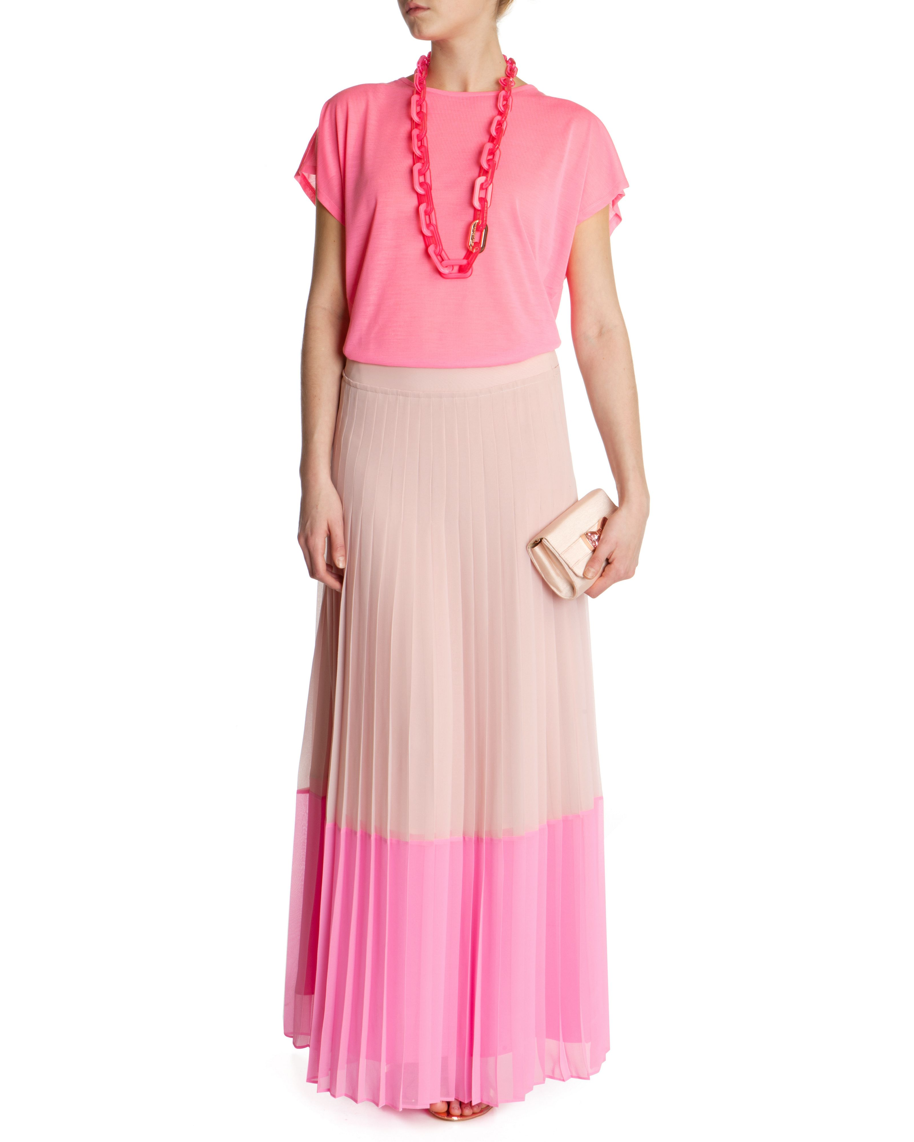 Petrus colour block maxi skirt