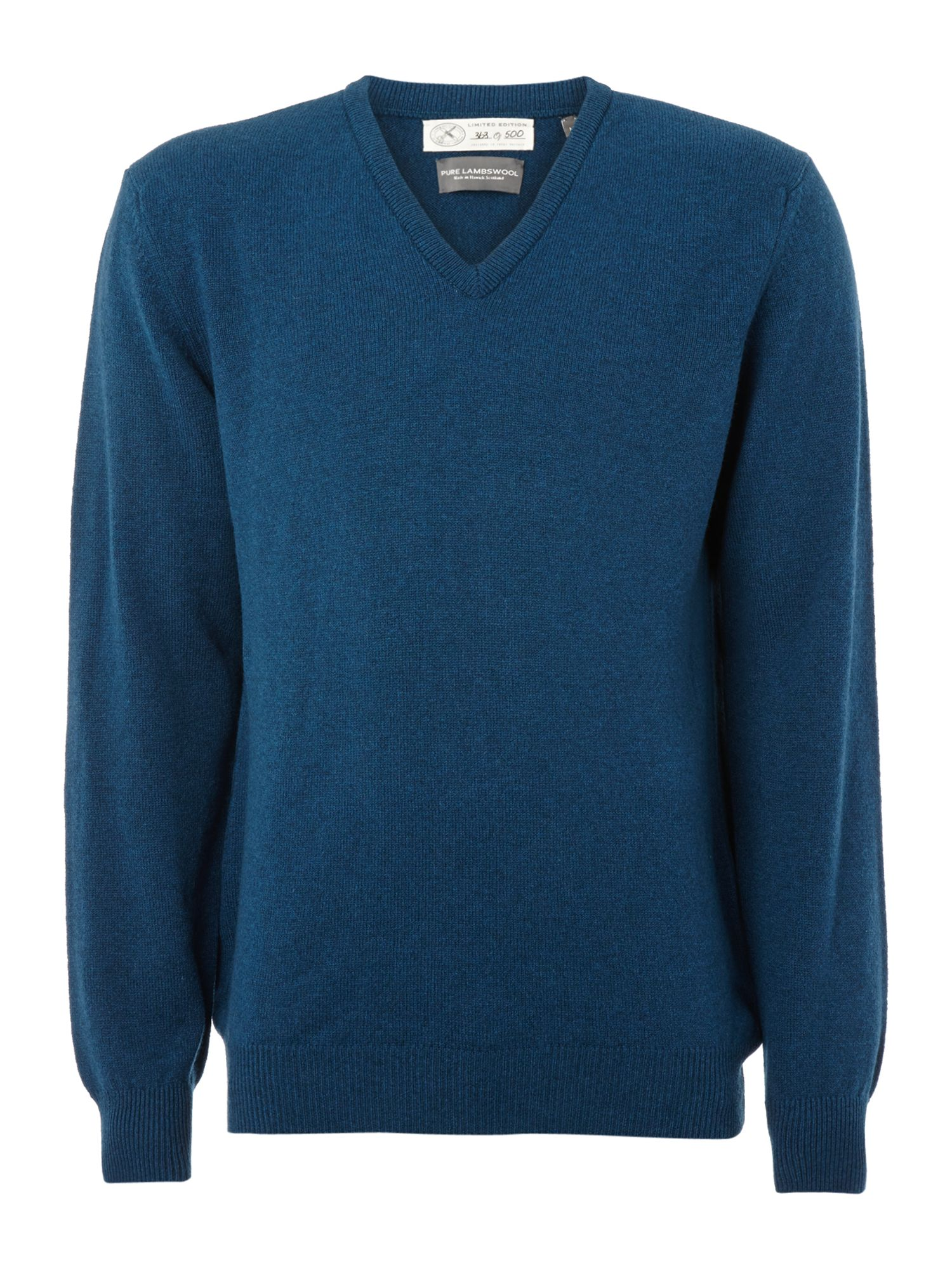 Hawick made in scotland lambswool v-neck