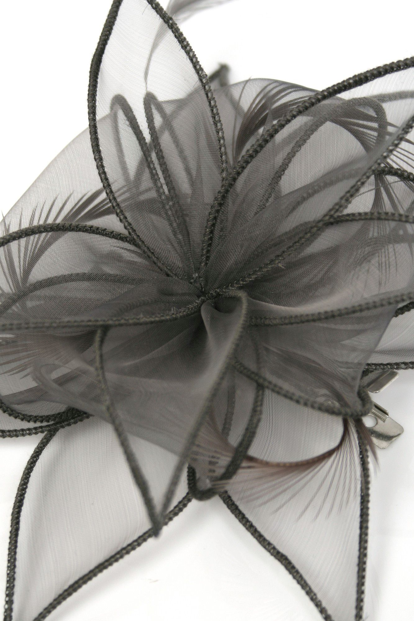 Organza clip fascinator