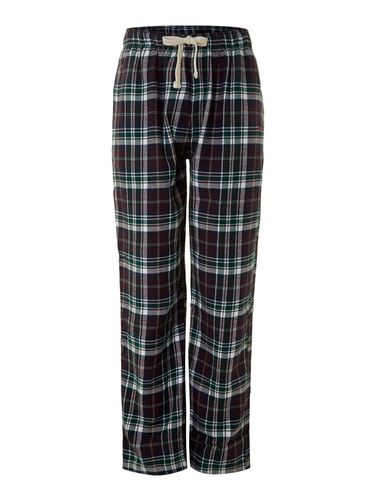 Check flannel pj pant