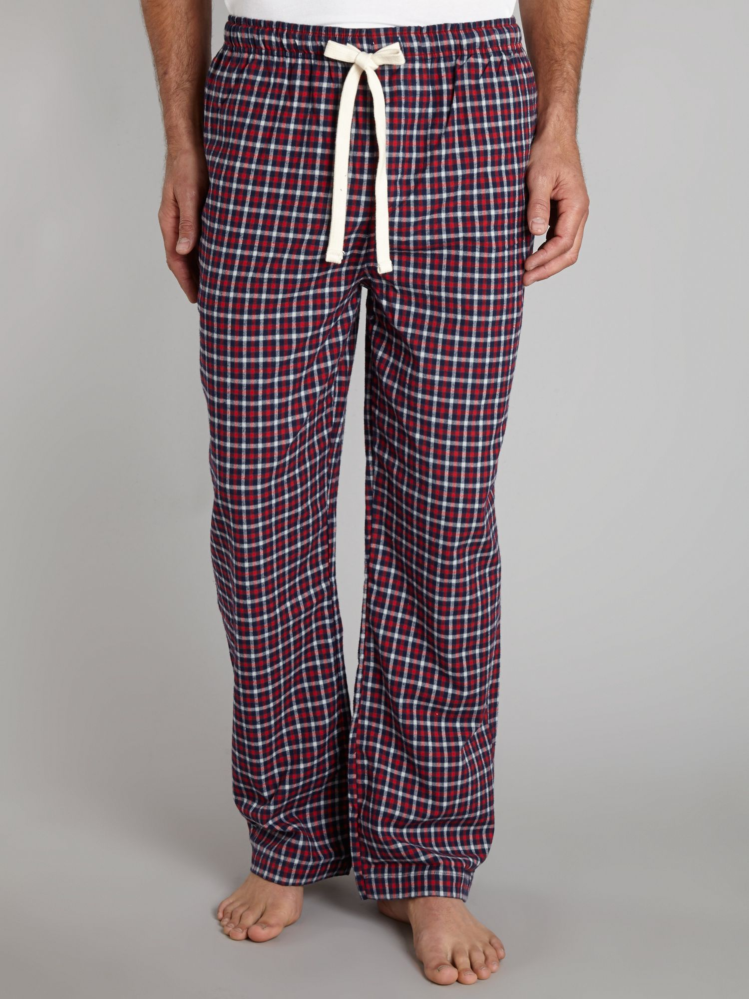 Mini red check flannel pj pant