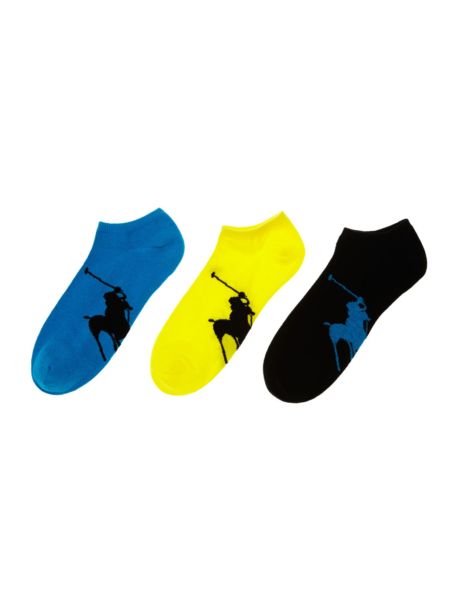3 pack big polo pony trainer sock