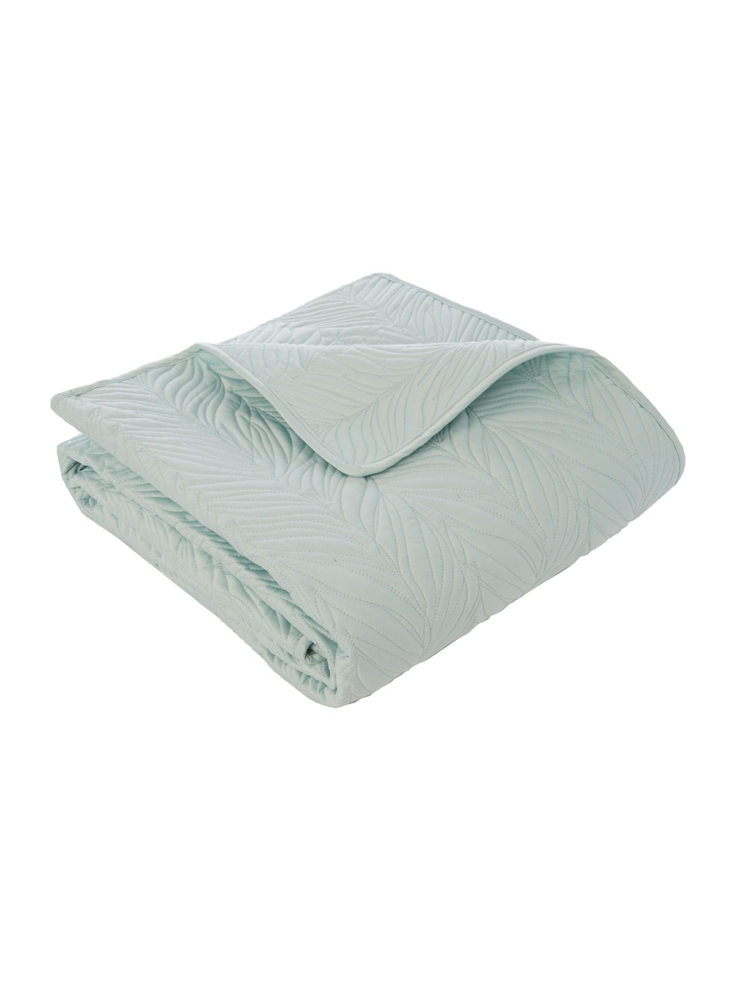 Duck egg leaf bedspread