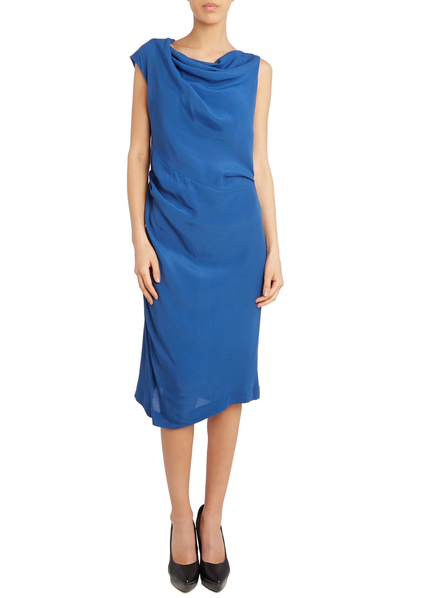 Sleeveless cowl neck alto dress