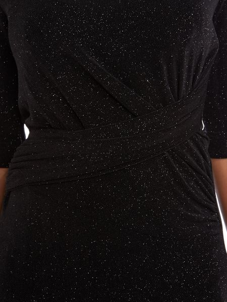 Anglomania 3/4 sleeved glitter maxi dress
