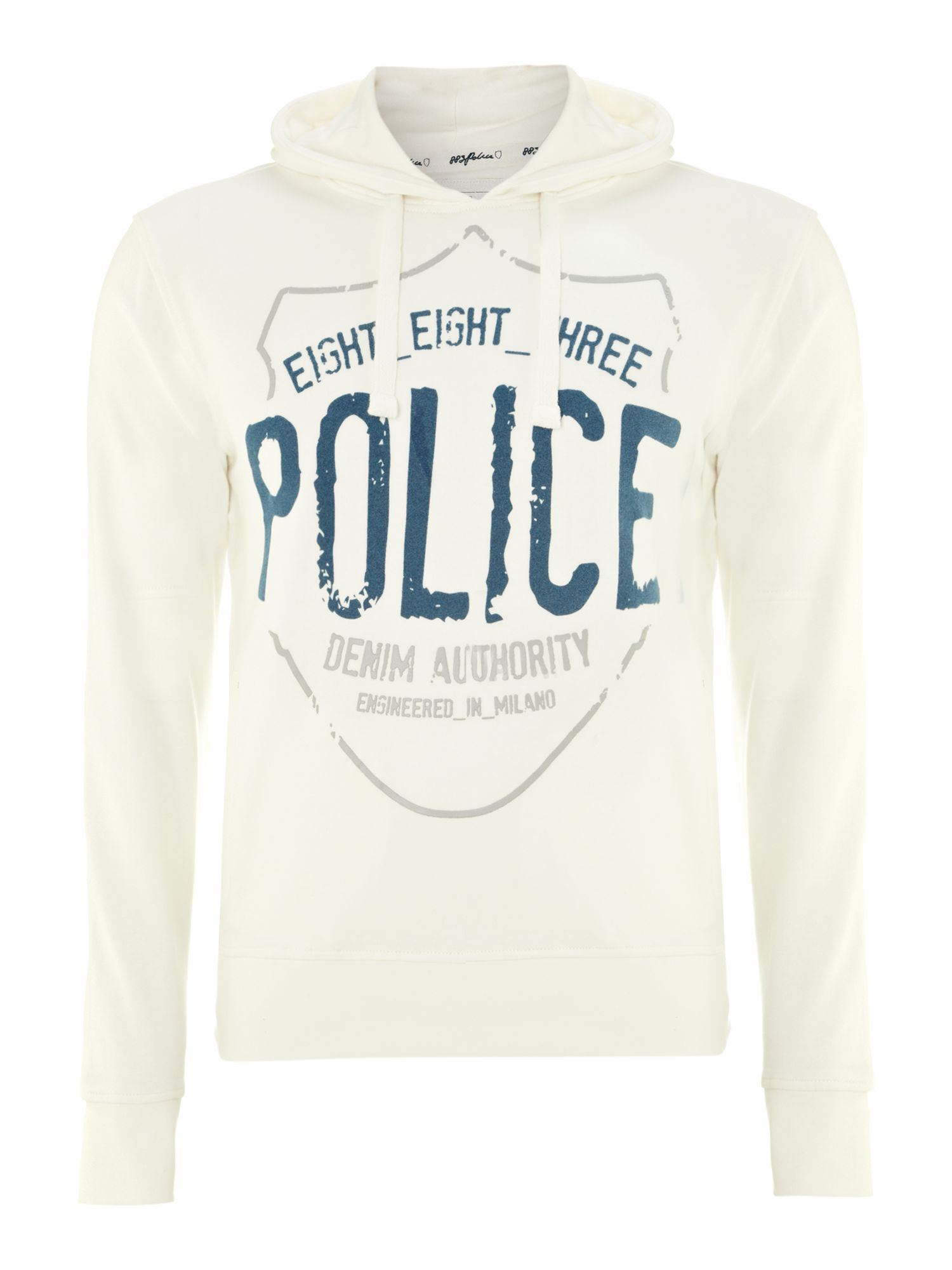 Hooded print sweatshirt