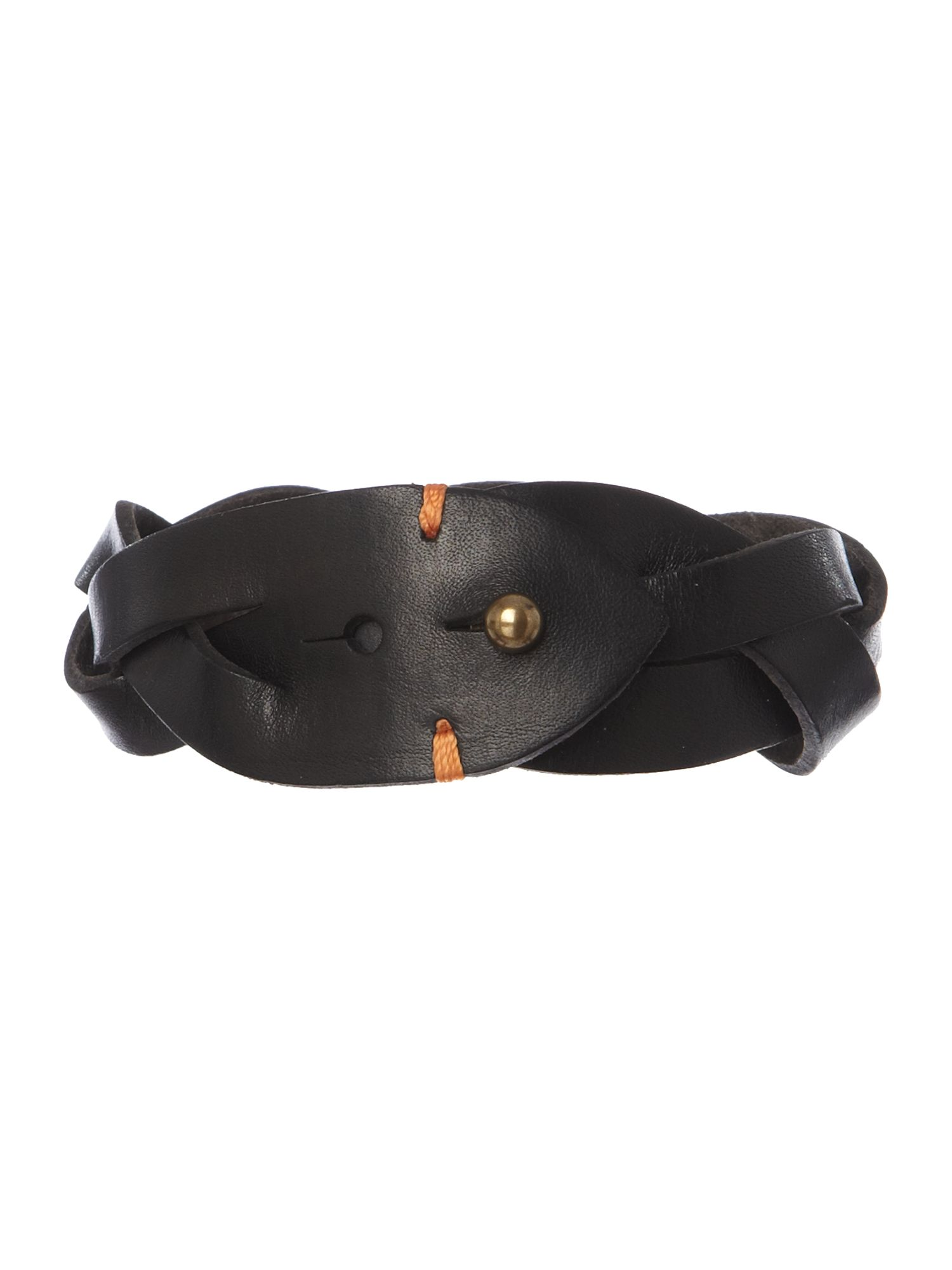 Hook leather cuff bracelet