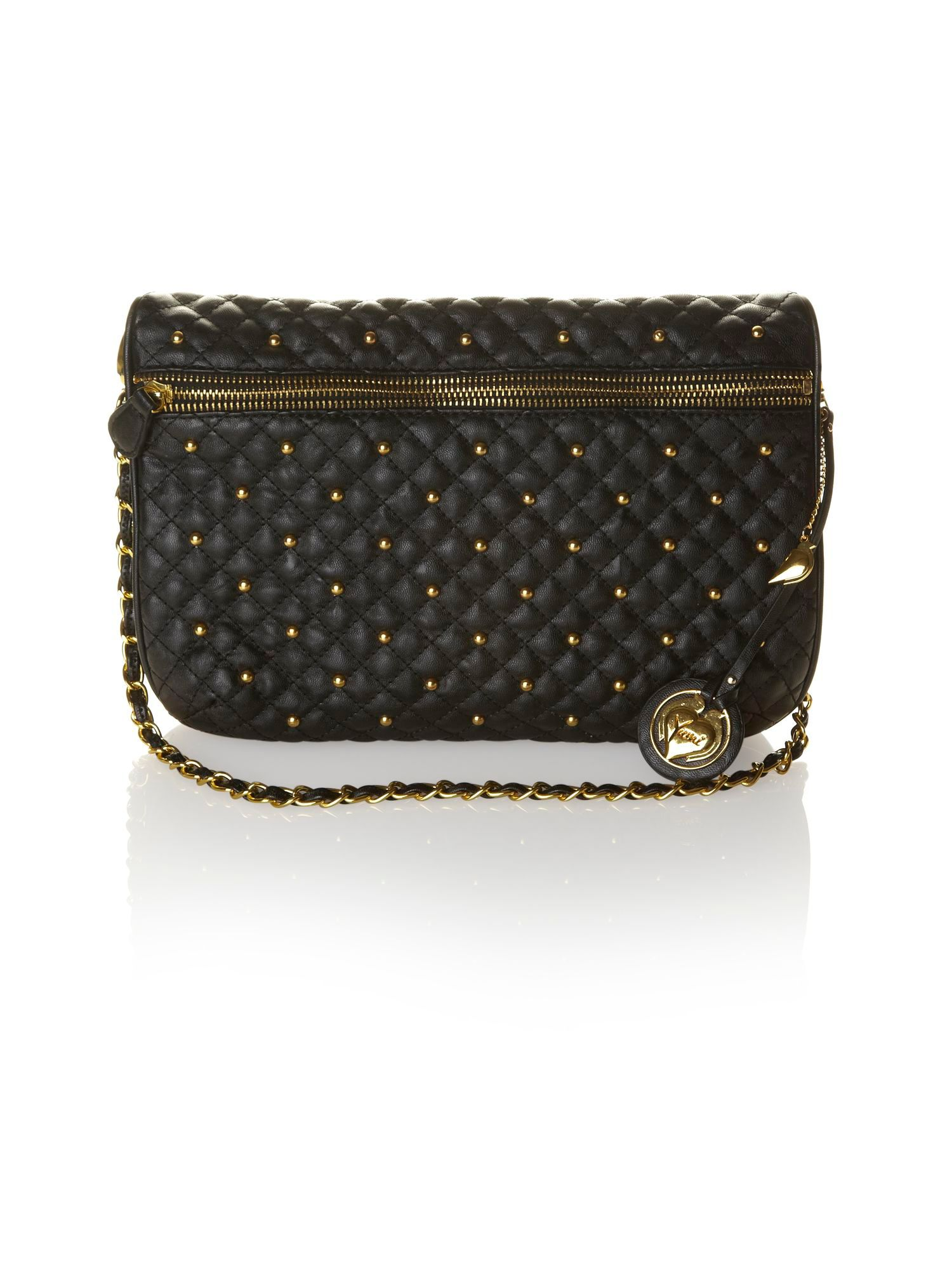 Quilted stud bag.