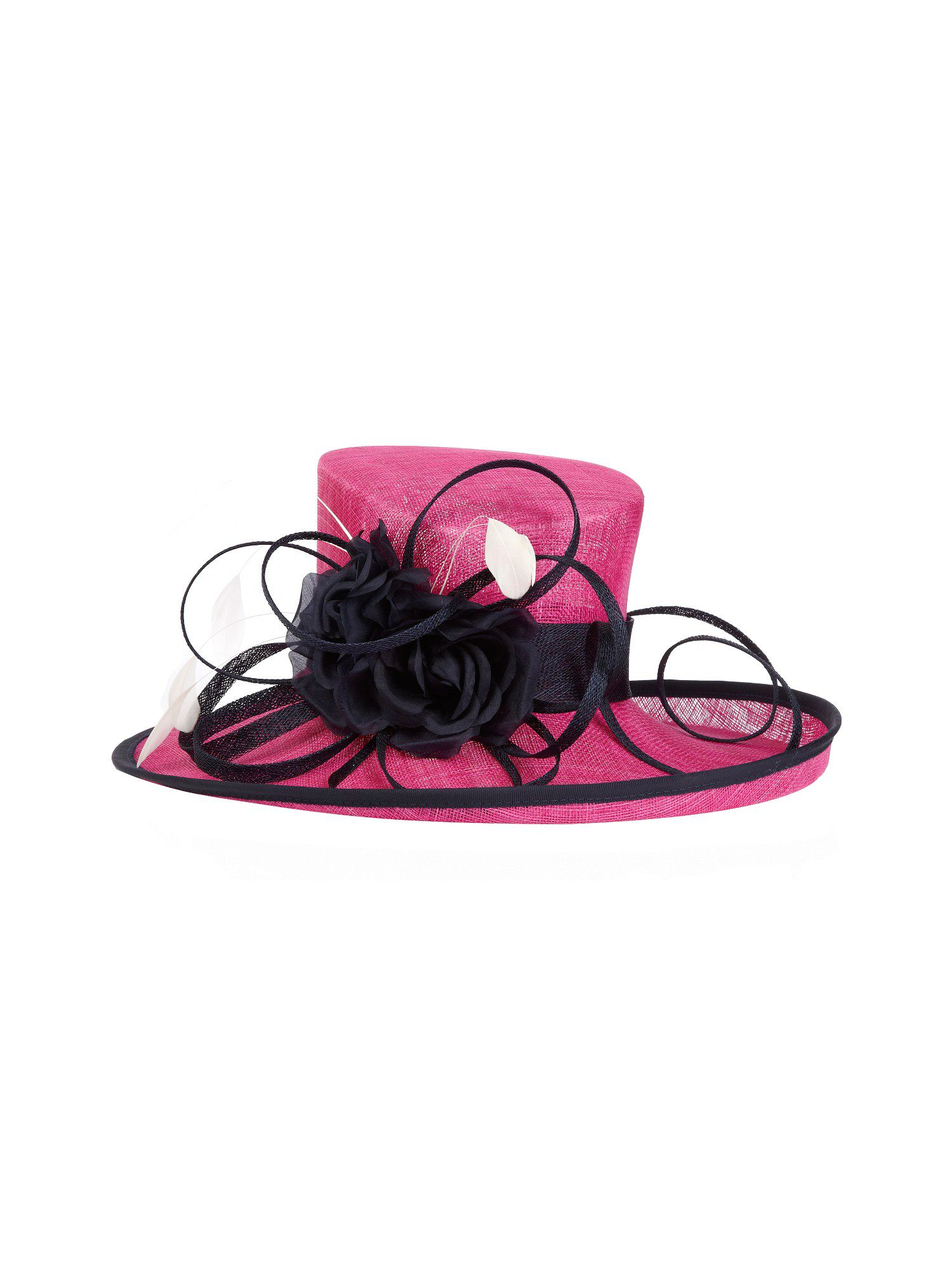 Navy & fucshia occasion hat