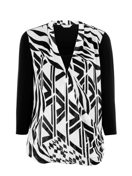 Windsmoor Geometric print top